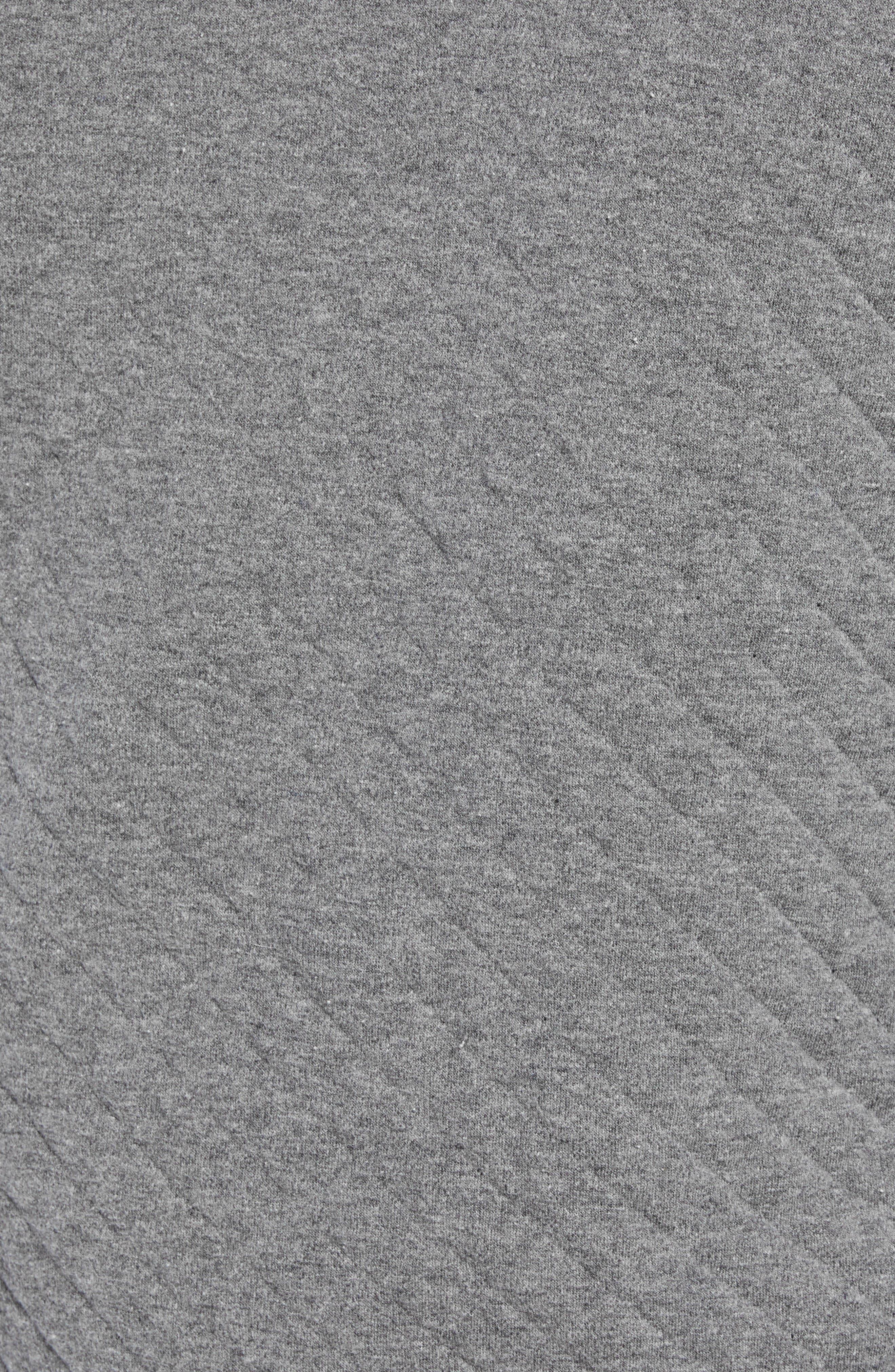 Shawl Collar Pullover,                             Alternate thumbnail 5, color,                             MEDIUM GREY
