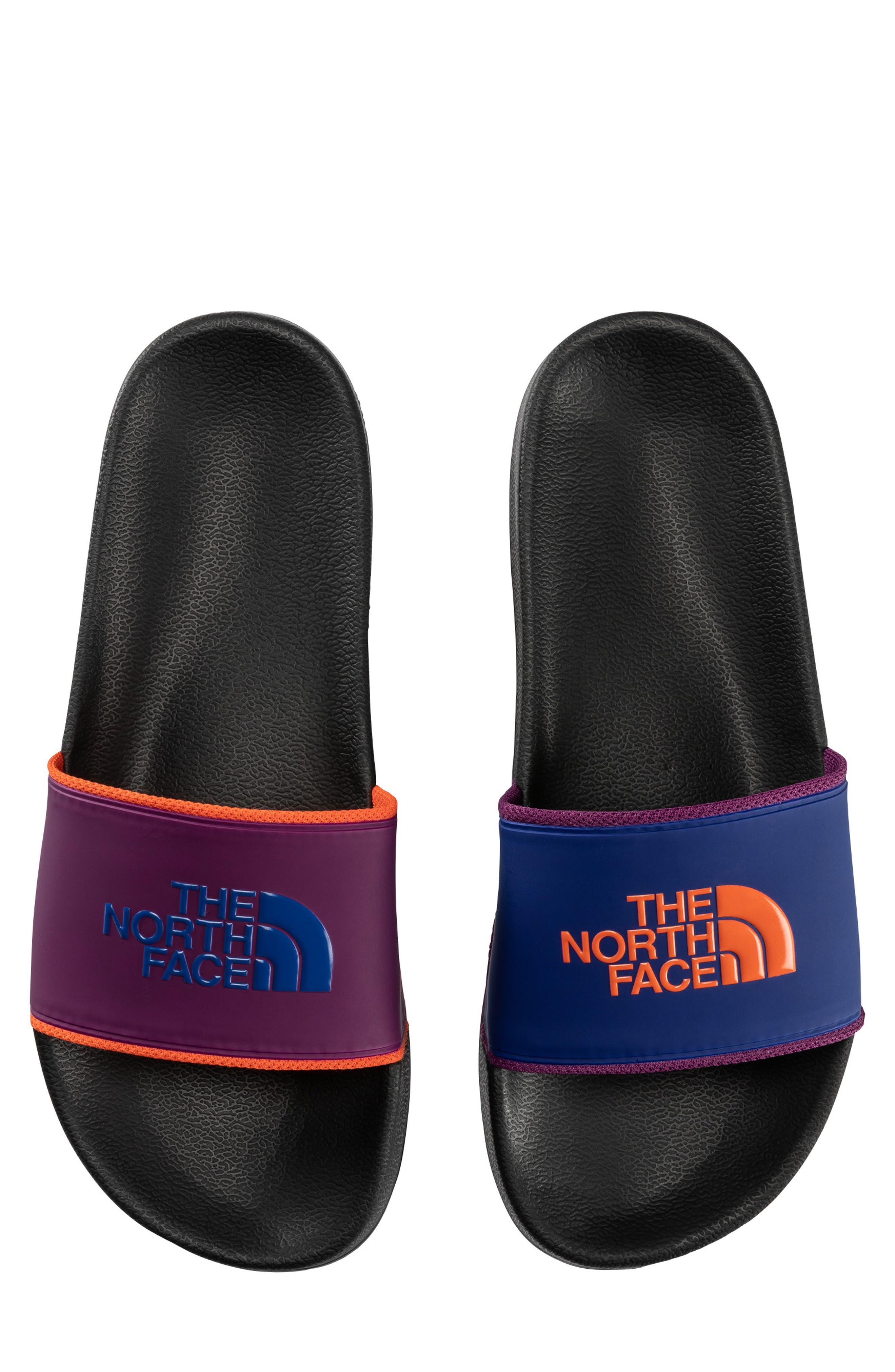 Base Camp II Slide Sandal,                             Alternate thumbnail 4, color,                             TNF BLACK/ AZTEC BLUE