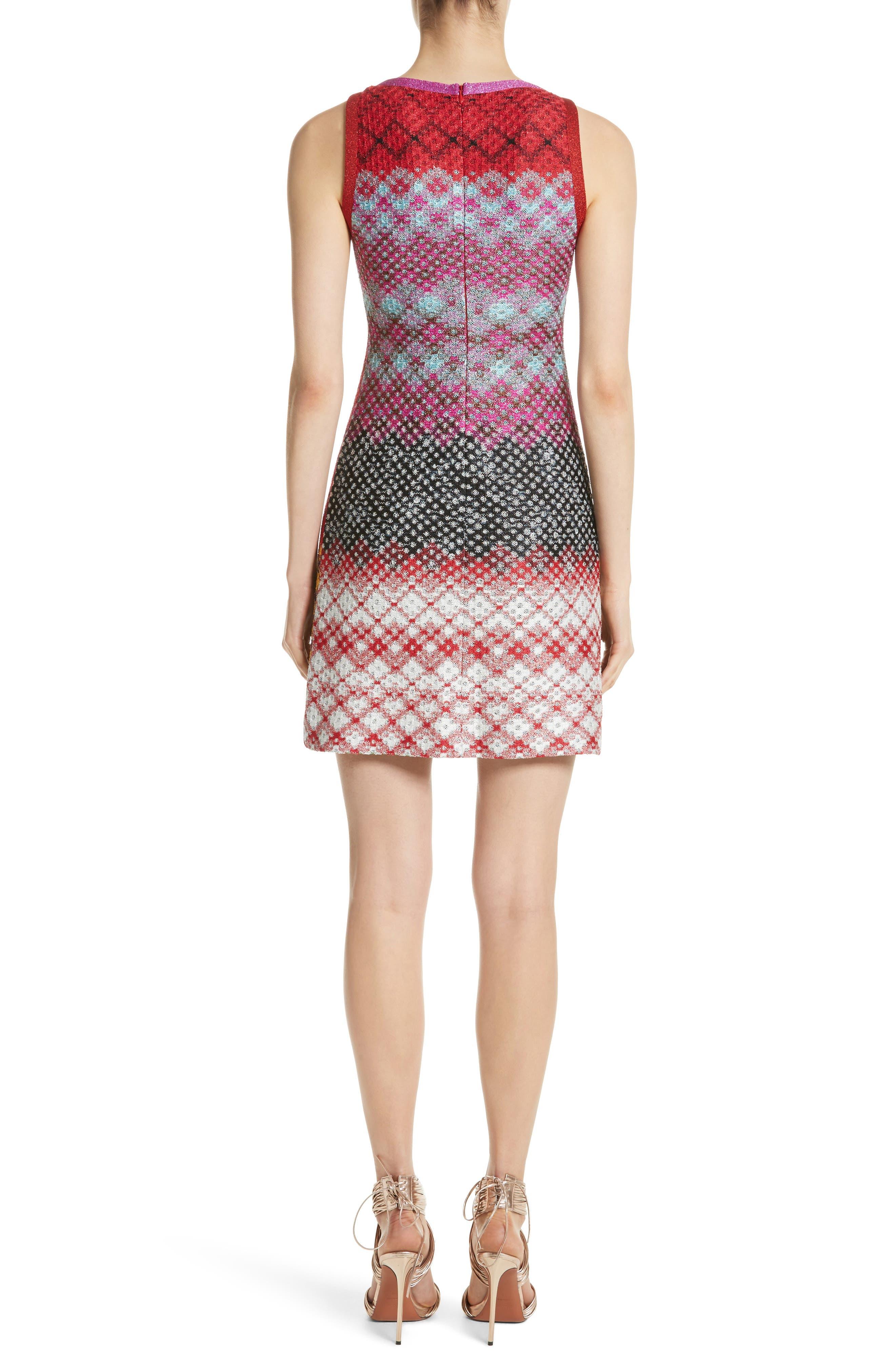 Multi Pattern Knit Dress,                             Alternate thumbnail 2, color,                             640