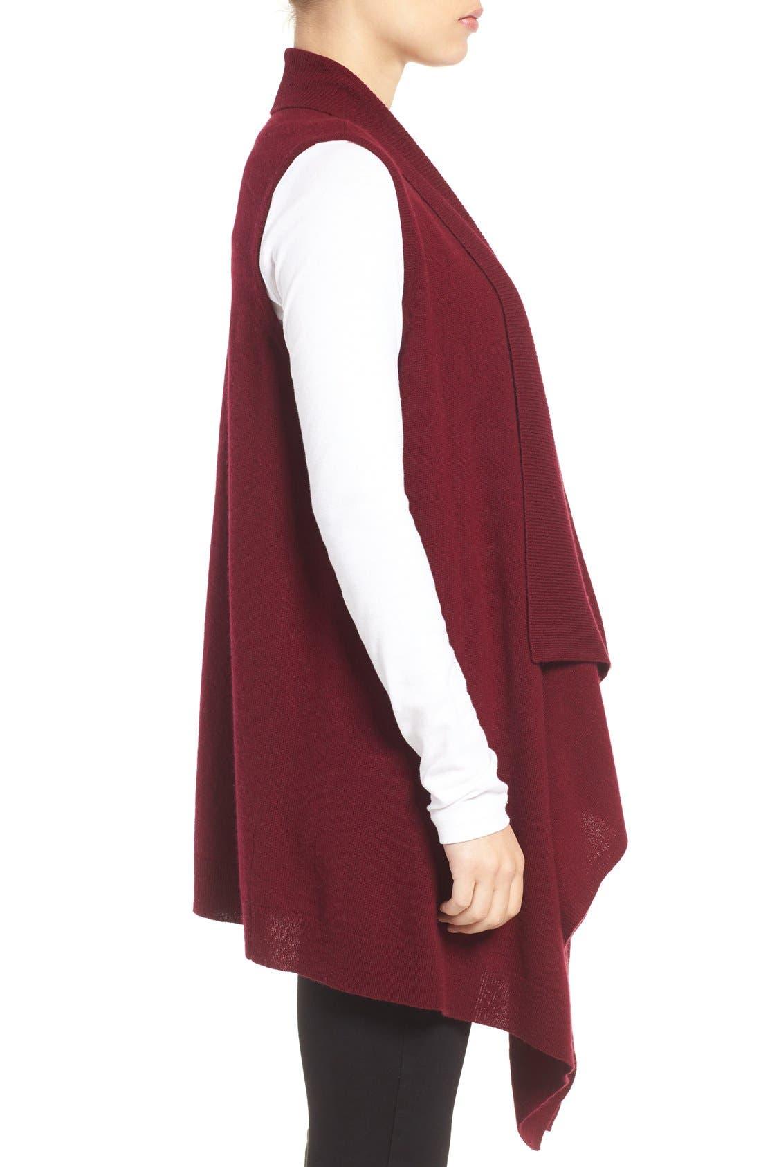 Wool & Cashmere Drape Front Sweater Vest,                             Alternate thumbnail 24, color,