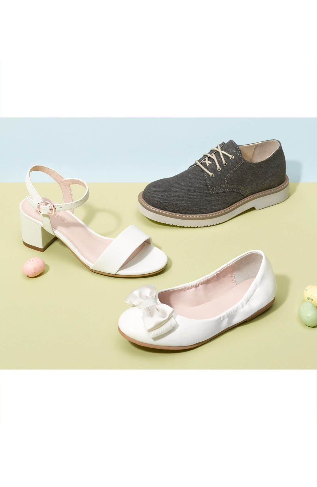 Danni Block Heel Sandal,                             Alternate thumbnail 5, color,                             WHITE FAUX LEATHER
