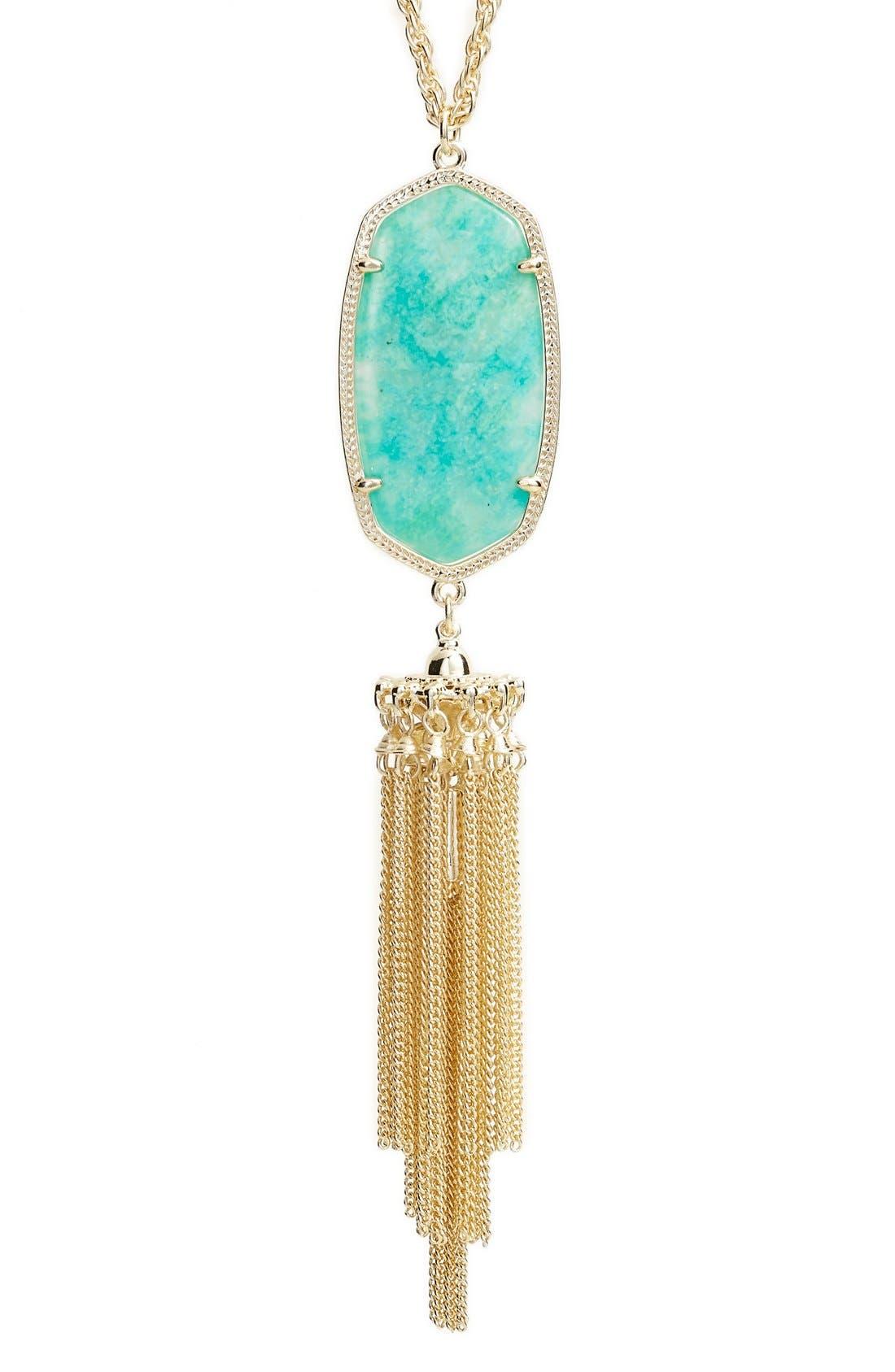 'Rayne' Tassel Pendant Necklace,                             Alternate thumbnail 21, color,