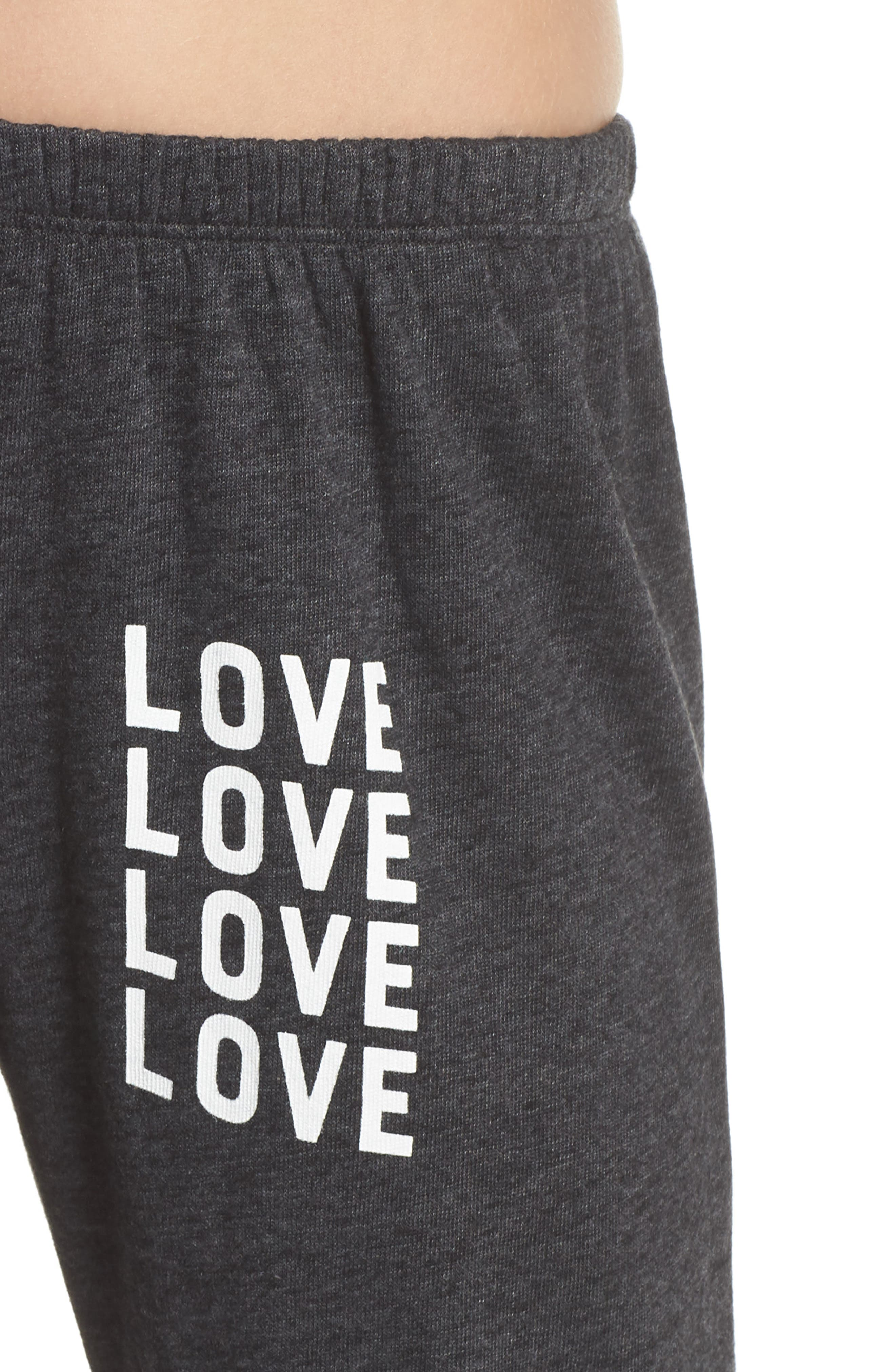 Love Perfect Sweatpants,                             Alternate thumbnail 4, color,                             VINTAGE BLACK