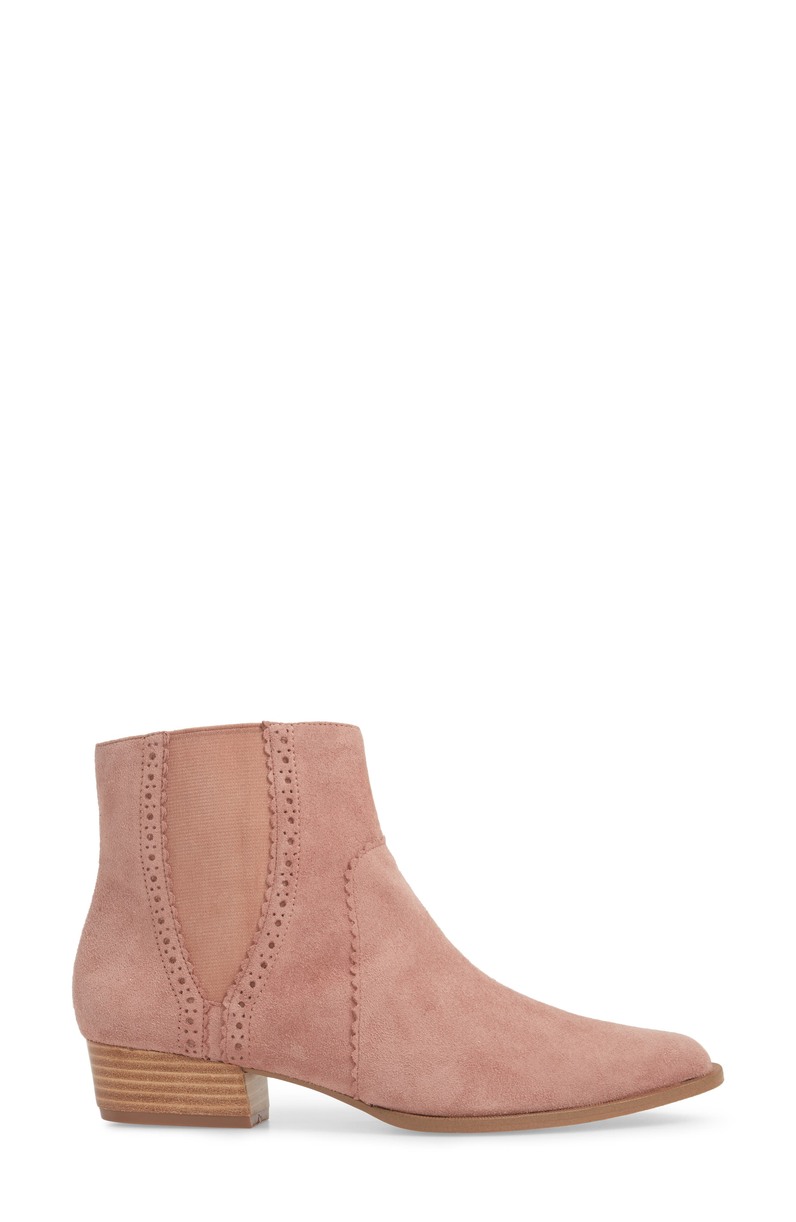 Mica Chelsea Bootie,                             Alternate thumbnail 3, color,                             ROSE SUEDE
