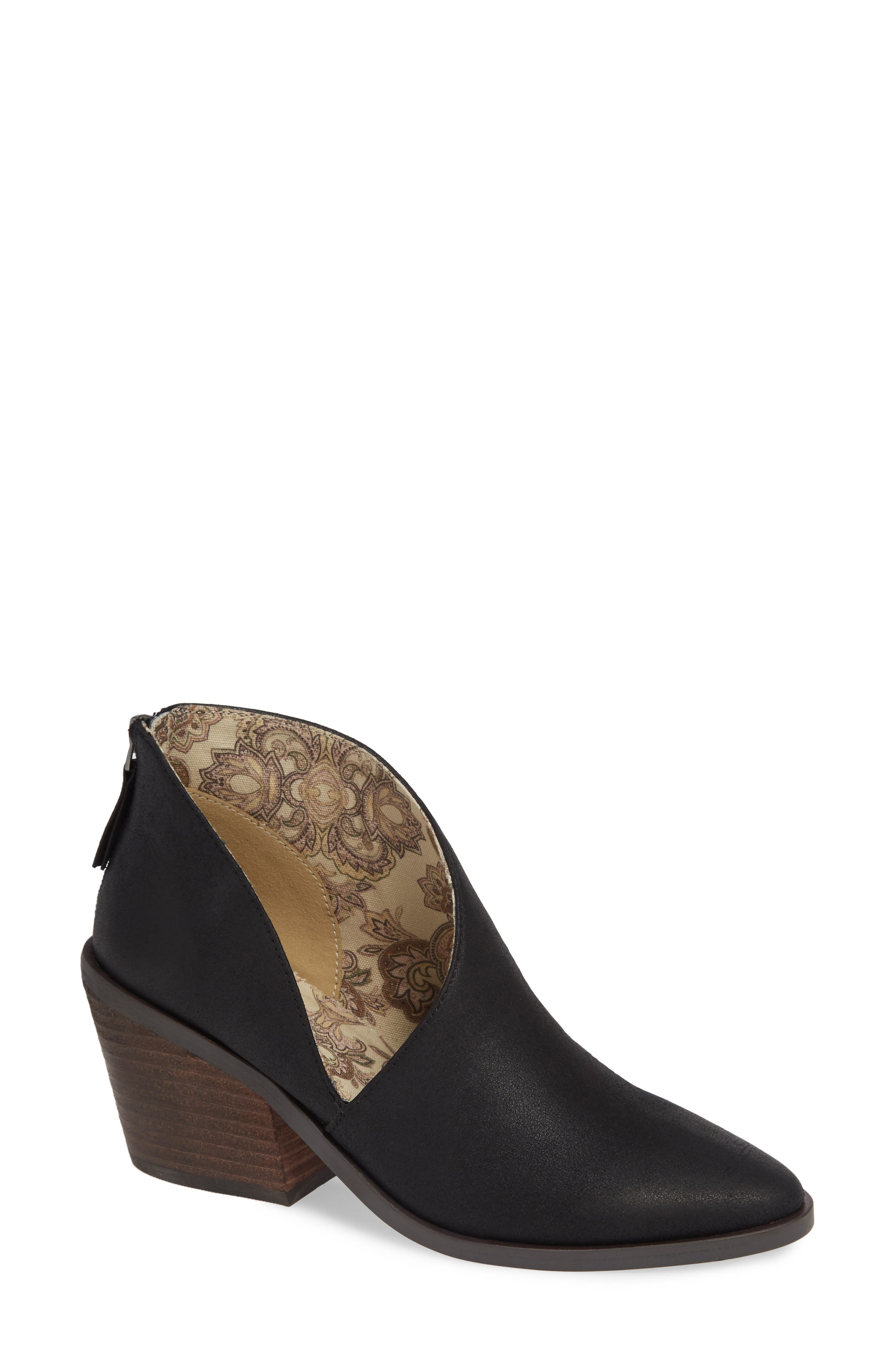 BAND OF GYPSIES Tusk Bootie in Black Faux Leather