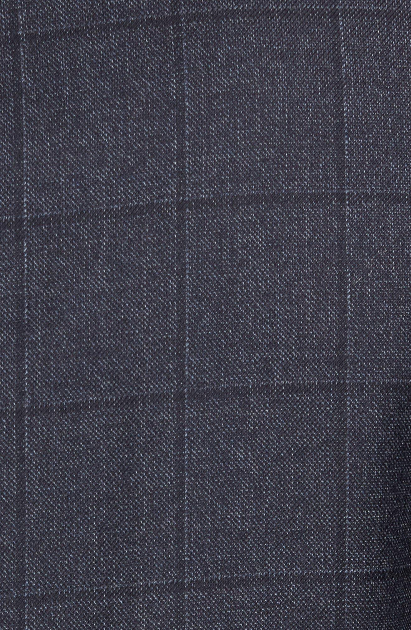 Trim Fit Windowpane Wool Sport Coat,                             Alternate thumbnail 6, color,