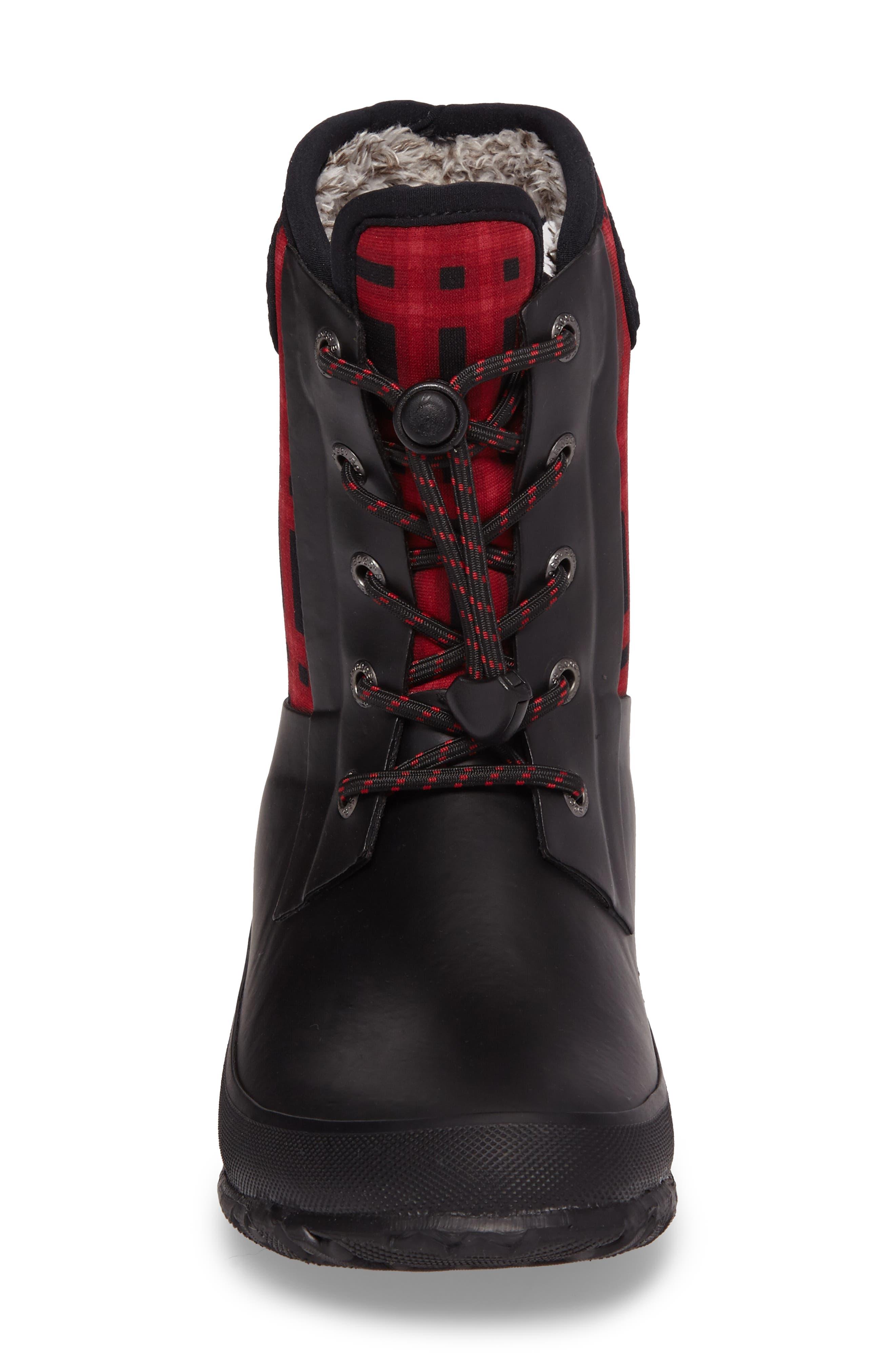 Amanda Plaid Insulated Waterproof Boot,                             Alternate thumbnail 4, color,                             009