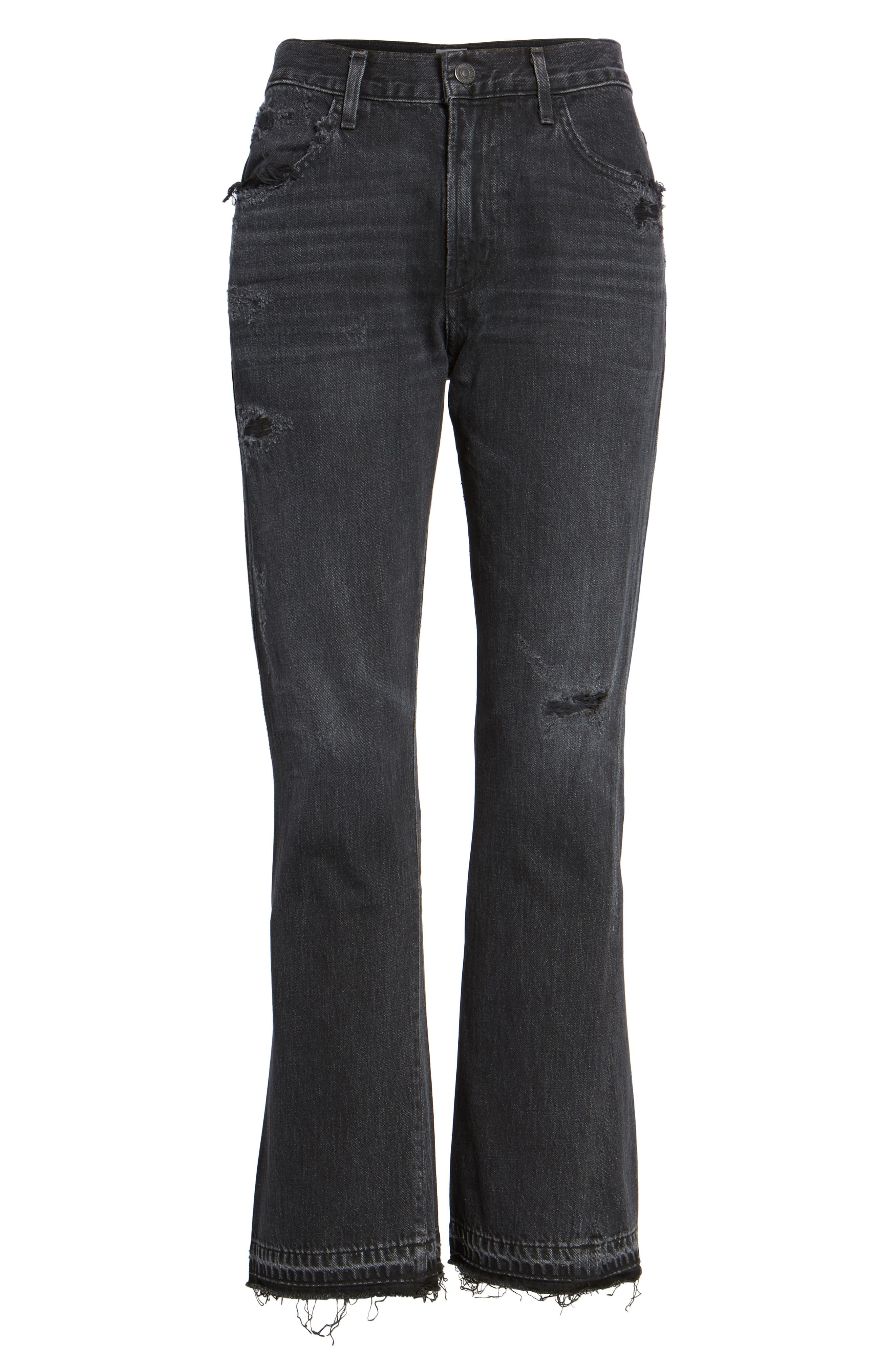 Sasha Twist Crop Jeans,                             Alternate thumbnail 6, color,                             BLACK HAWK