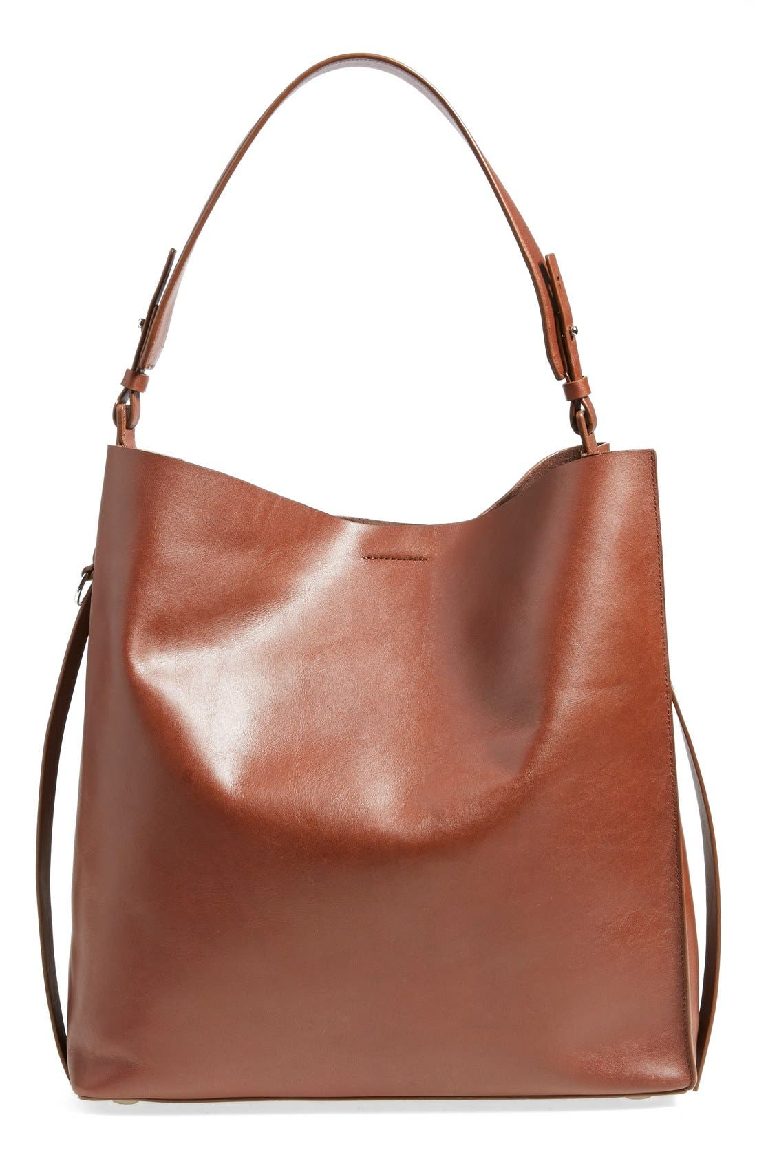 'Paradise North/South' Calfskin Leather Tote,                             Main thumbnail 5, color,