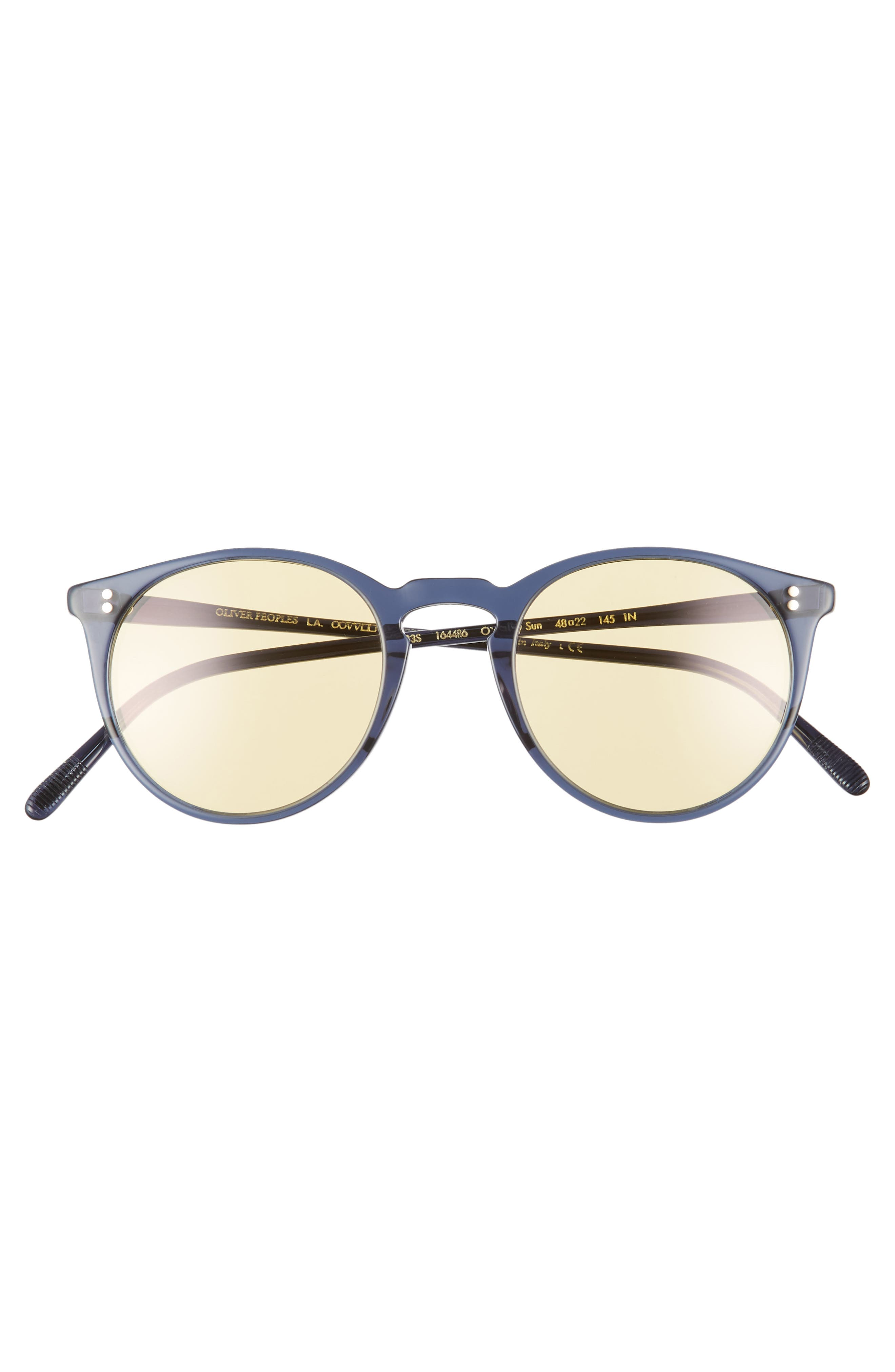 O'Malley 48mm Round Sunglasses,                             Alternate thumbnail 3, color,                             NAVY