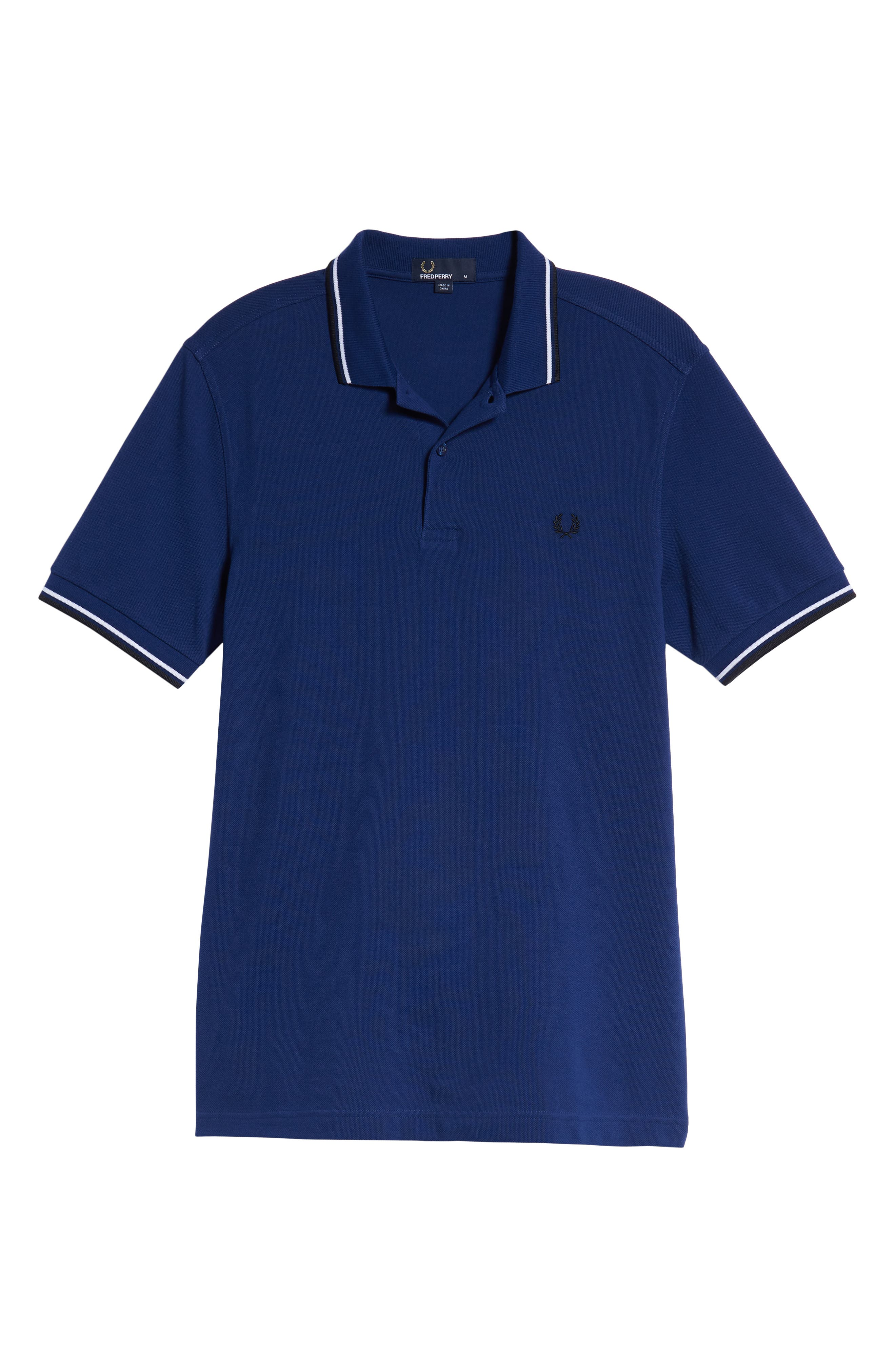 Extra Trim Fit Twin Tipped Piqué Polo,                             Alternate thumbnail 6, color,                             MEDIEVAL BLUE / WHITE / BLACK