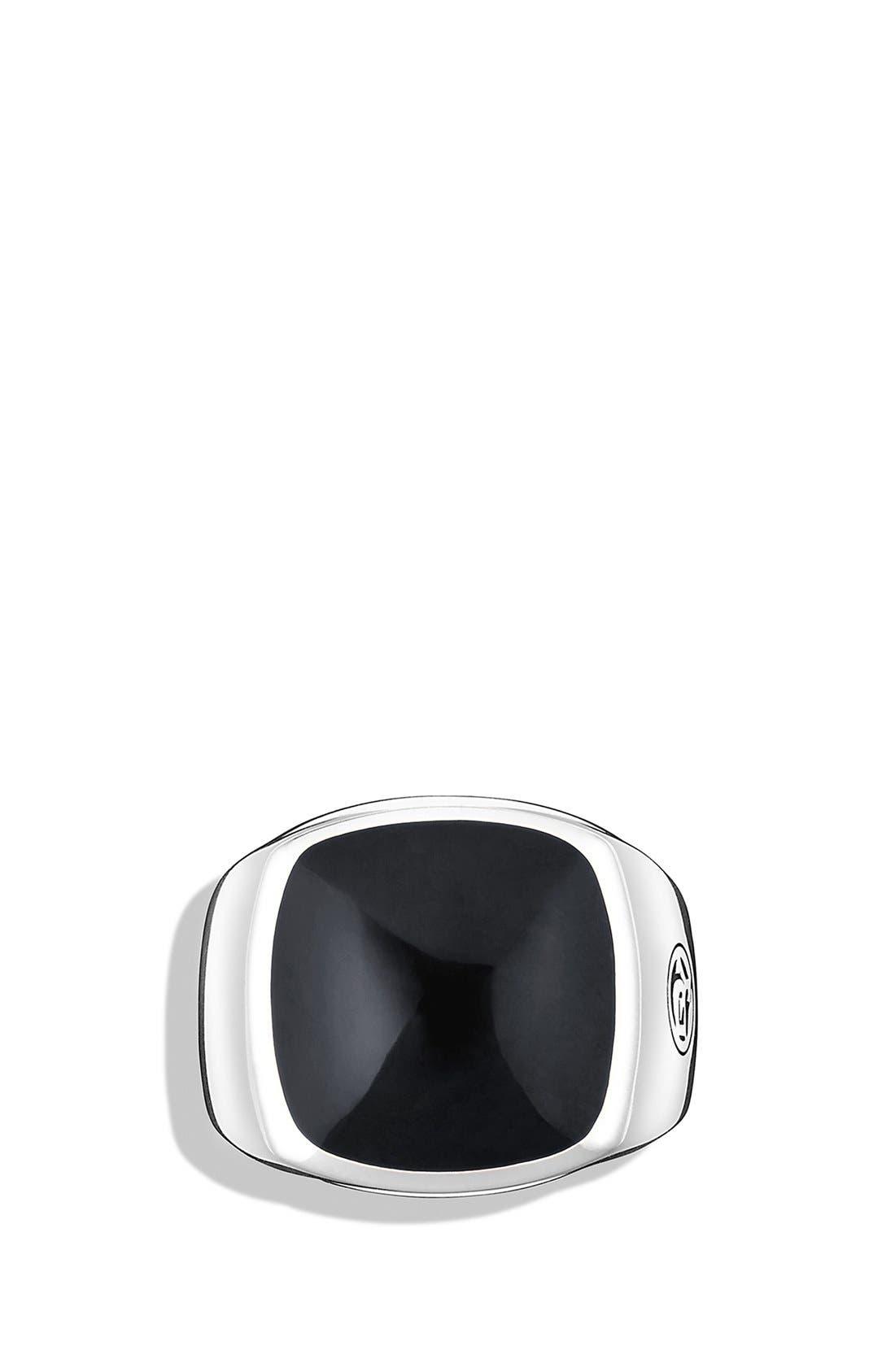 'Chevron' Signet Ring,                             Alternate thumbnail 3, color,                             001