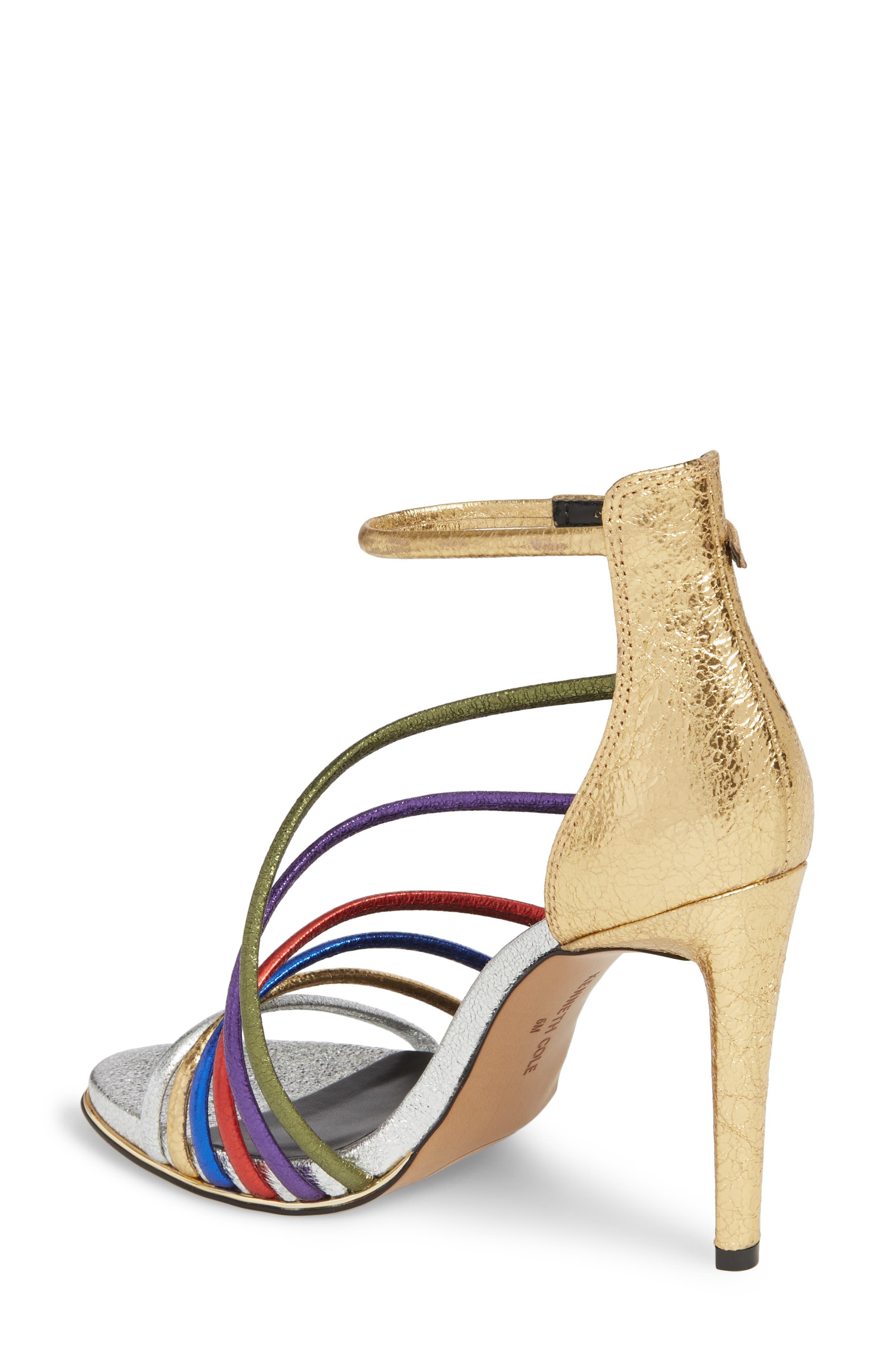 Barletta Asymmetrical Strappy Sandal,                             Alternate thumbnail 2, color,                             MULTI LEATHER