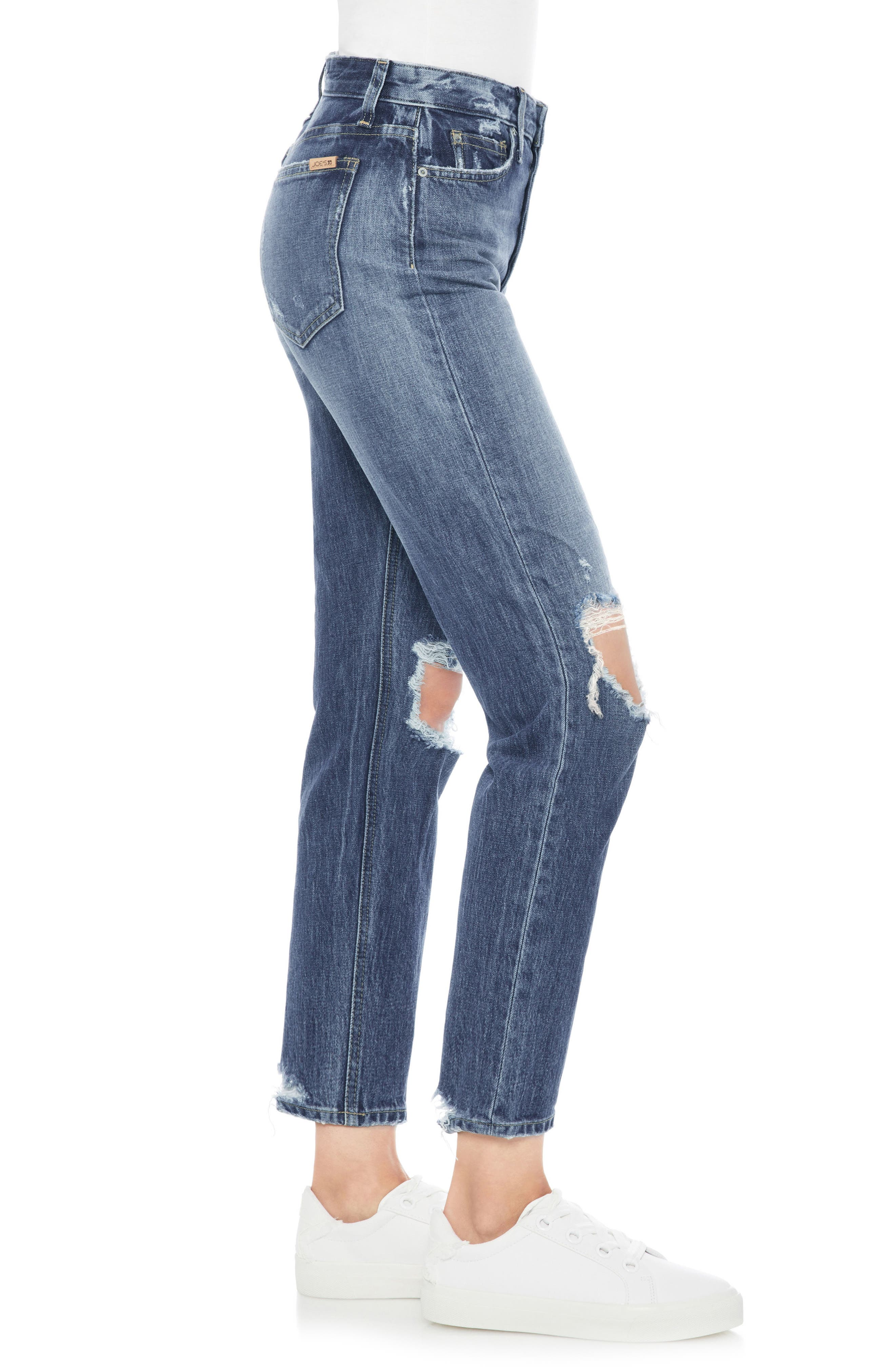 Smith Ripped High Waist Ankle Jeans,                             Alternate thumbnail 2, color,                             LANNAH