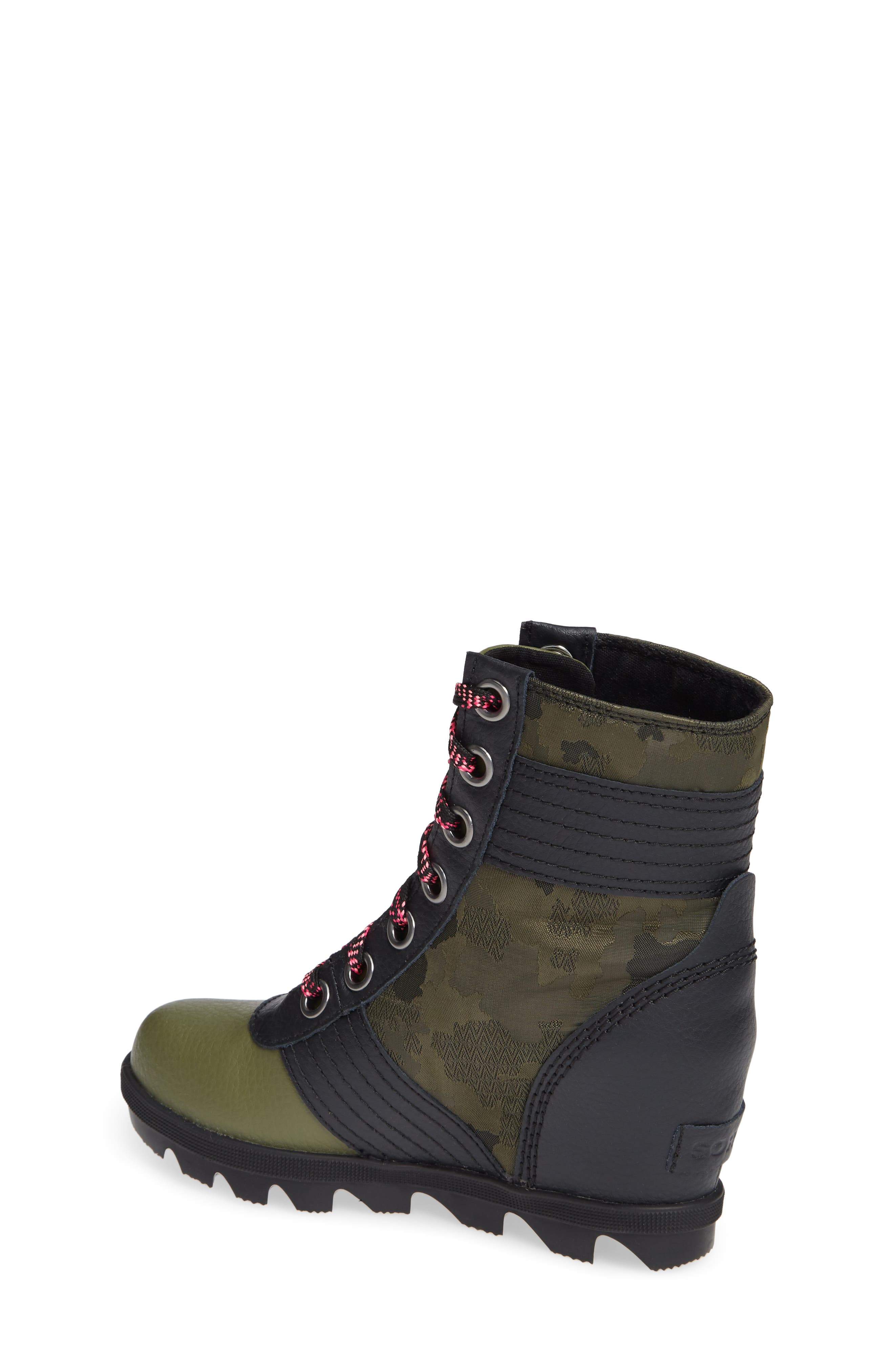 Lexie Waterproof Wedge Bootie,                             Alternate thumbnail 2, color,                             HIKER GREEN/ BLACK