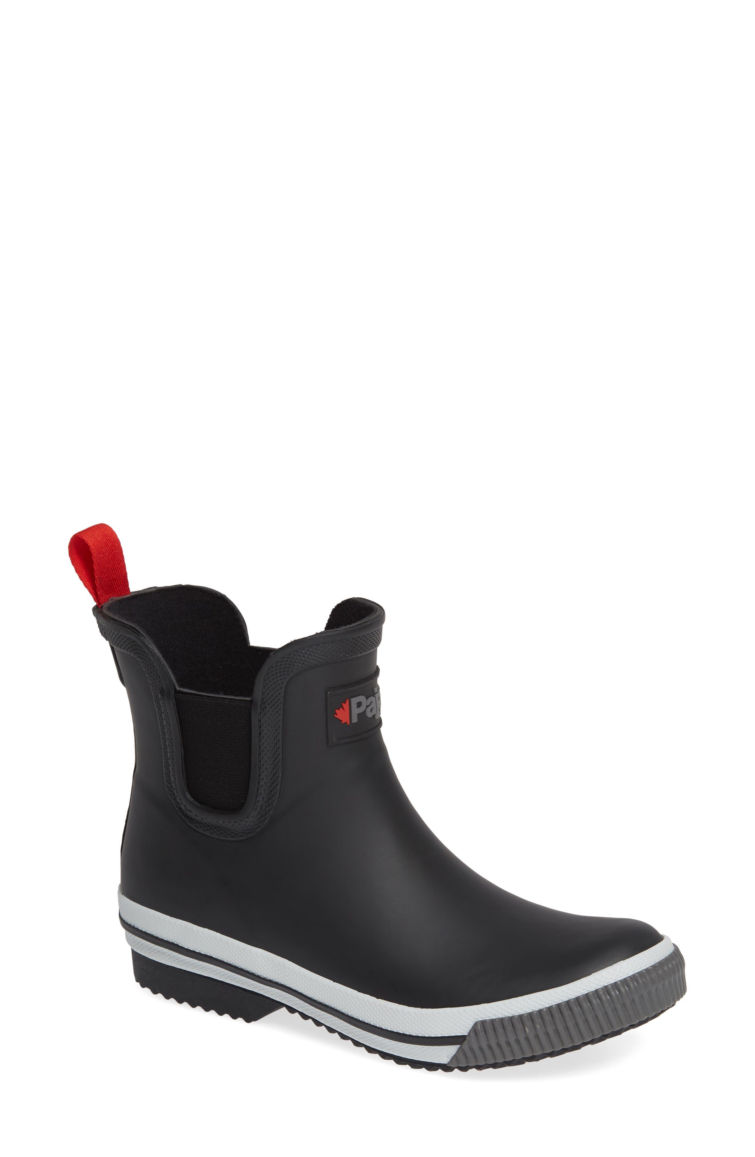 PAJAR Tina Waterproof Chelsea Rain Boot in Black
