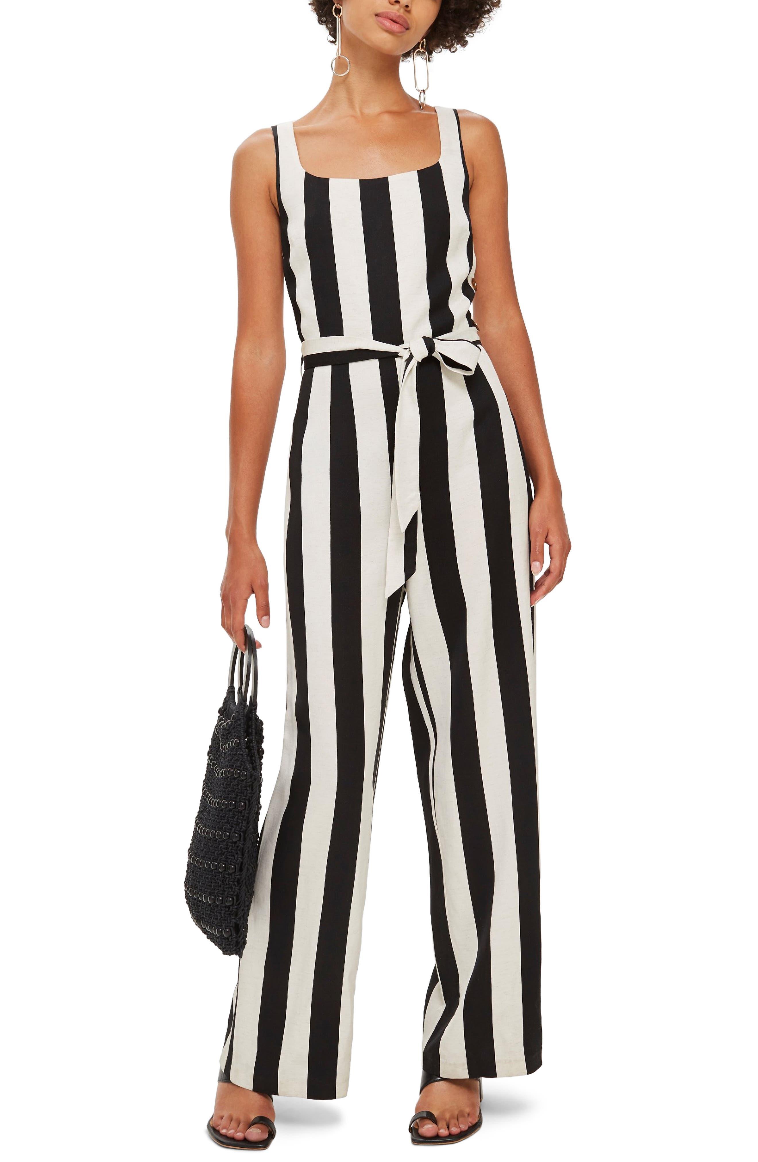 Humbug Striped Jumpsuit,                         Main,                         color, BLACK MULTI