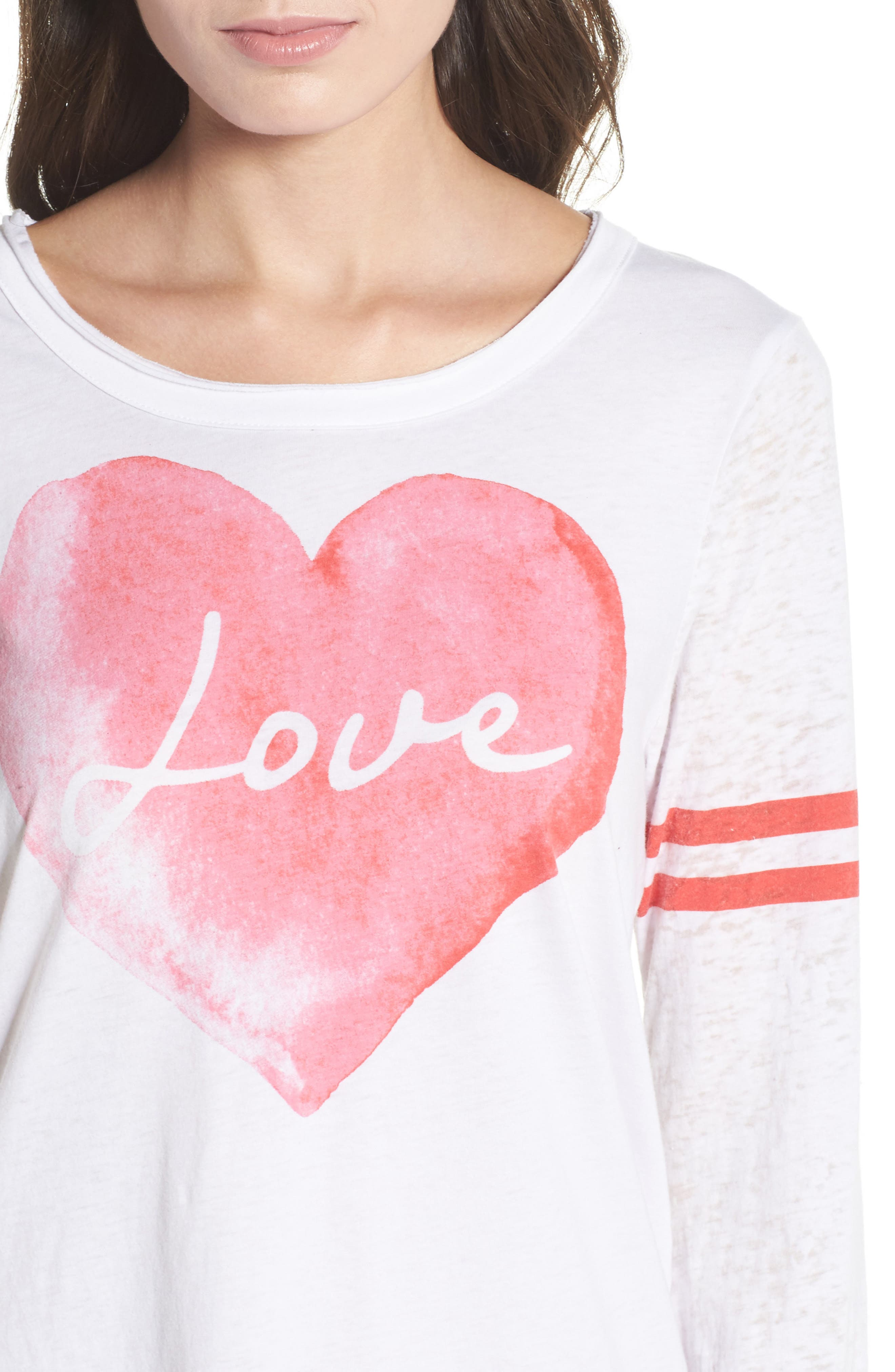 Lover Heart Tee,                             Alternate thumbnail 4, color,                             100