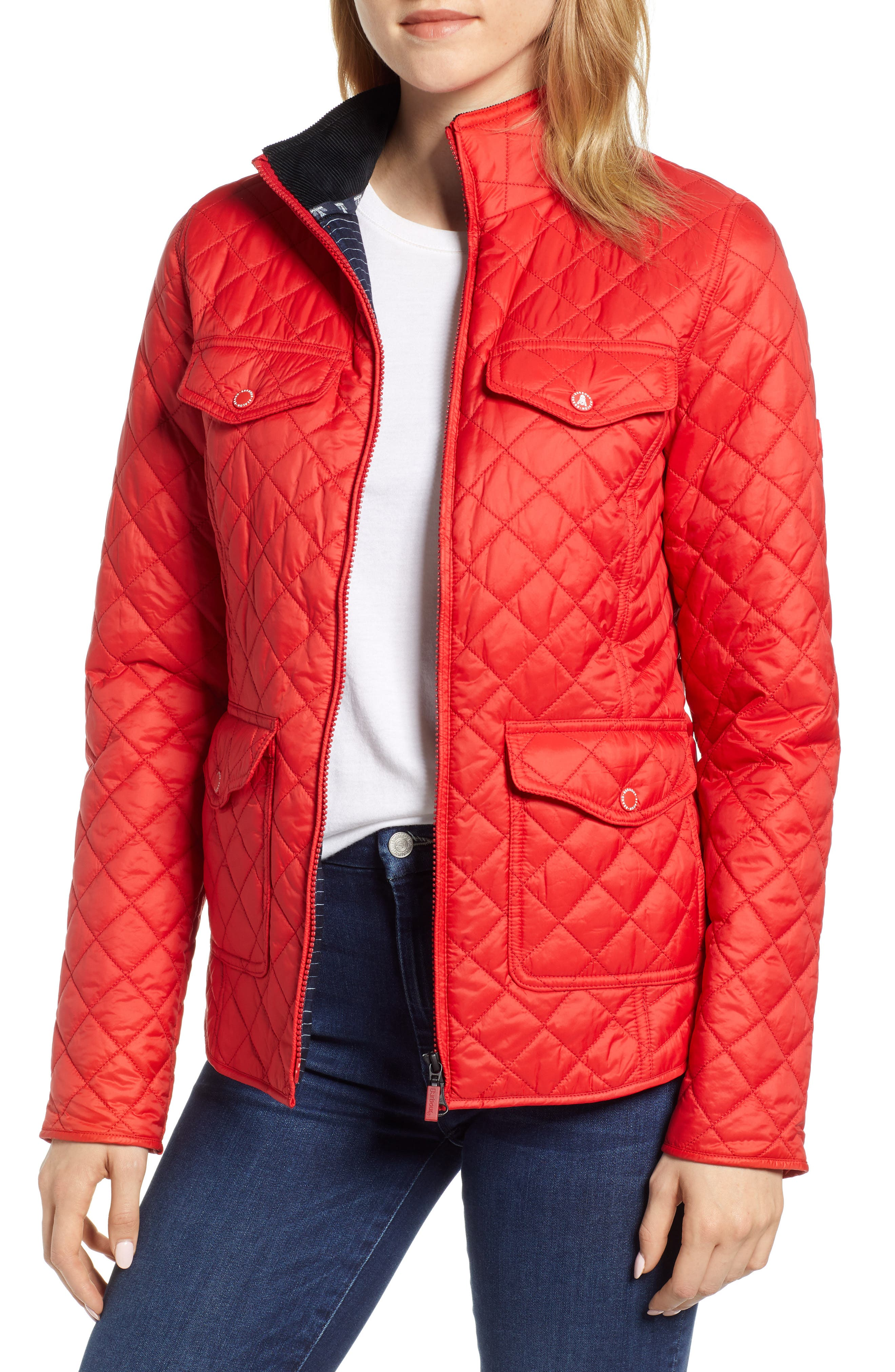 Barbour Sailboat Quilted Jacket, US / 10 UK - Red