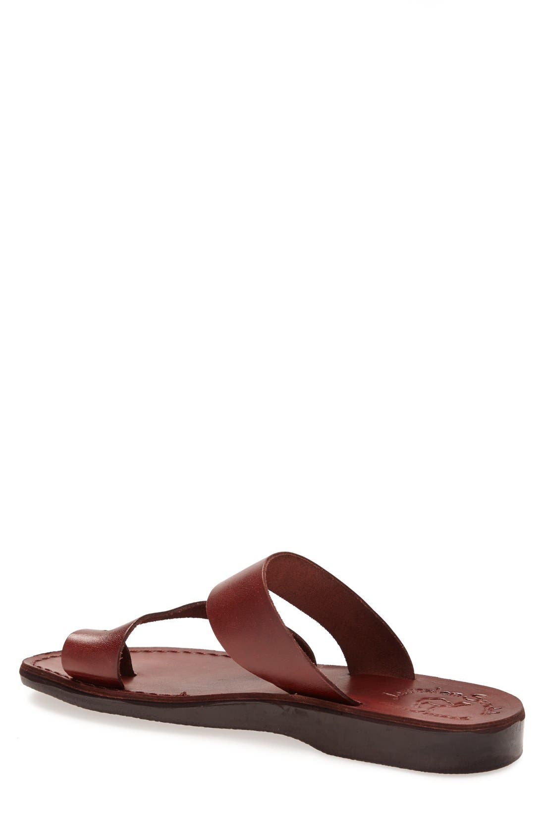 'Zohar' Leather Sandal,                             Alternate thumbnail 2, color,                             BROWN