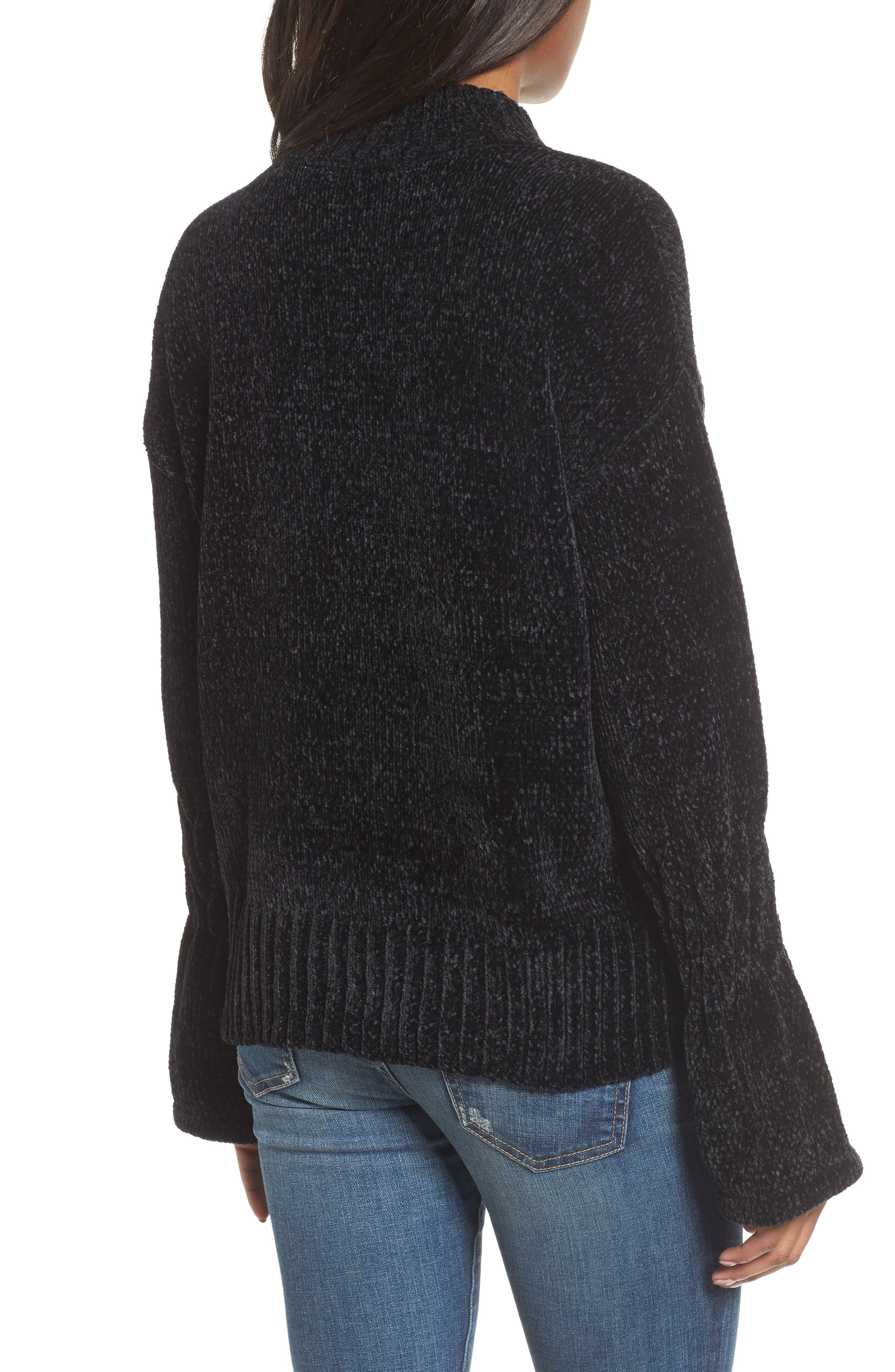 Bell Cuff Sweater,                             Alternate thumbnail 2, color,                             001
