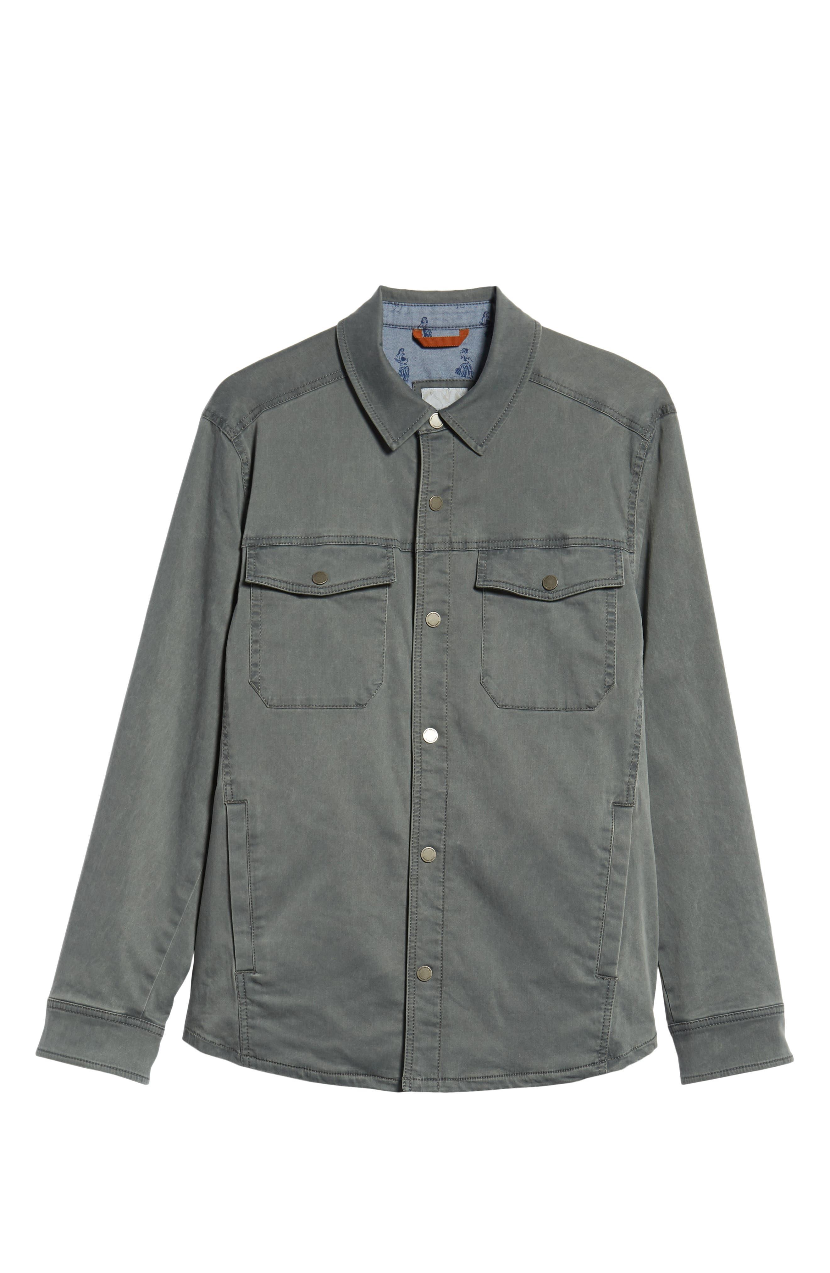 Boracay Regular Fit Shirt Jacket,                             Alternate thumbnail 6, color,                             FOG GREY