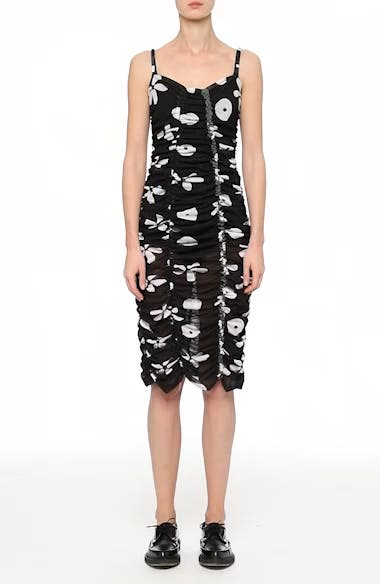 Alternate Video 7  - Molly Goddard Scarlett Floral Print Mesh Dress