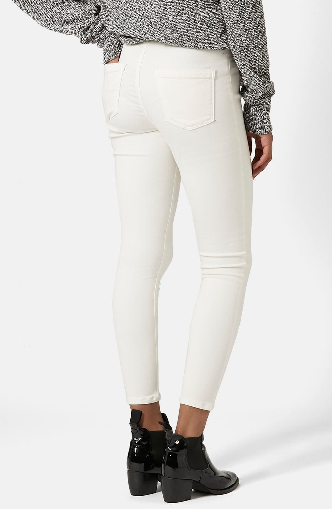 Moto 'Joni' Skinny Jeans,                             Alternate thumbnail 2, color,                             100