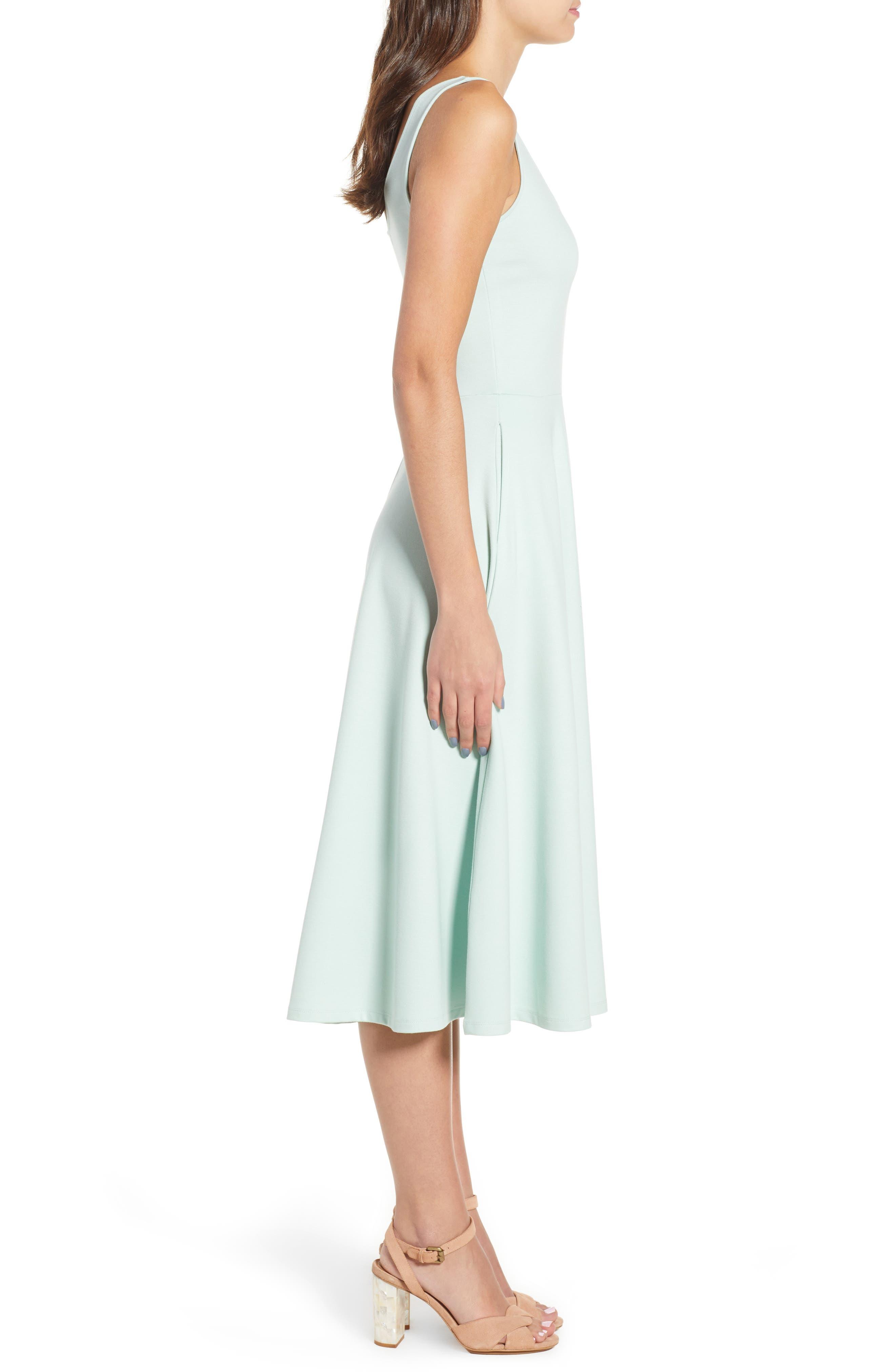 Stretch Knit Midi Dress,                             Alternate thumbnail 24, color,