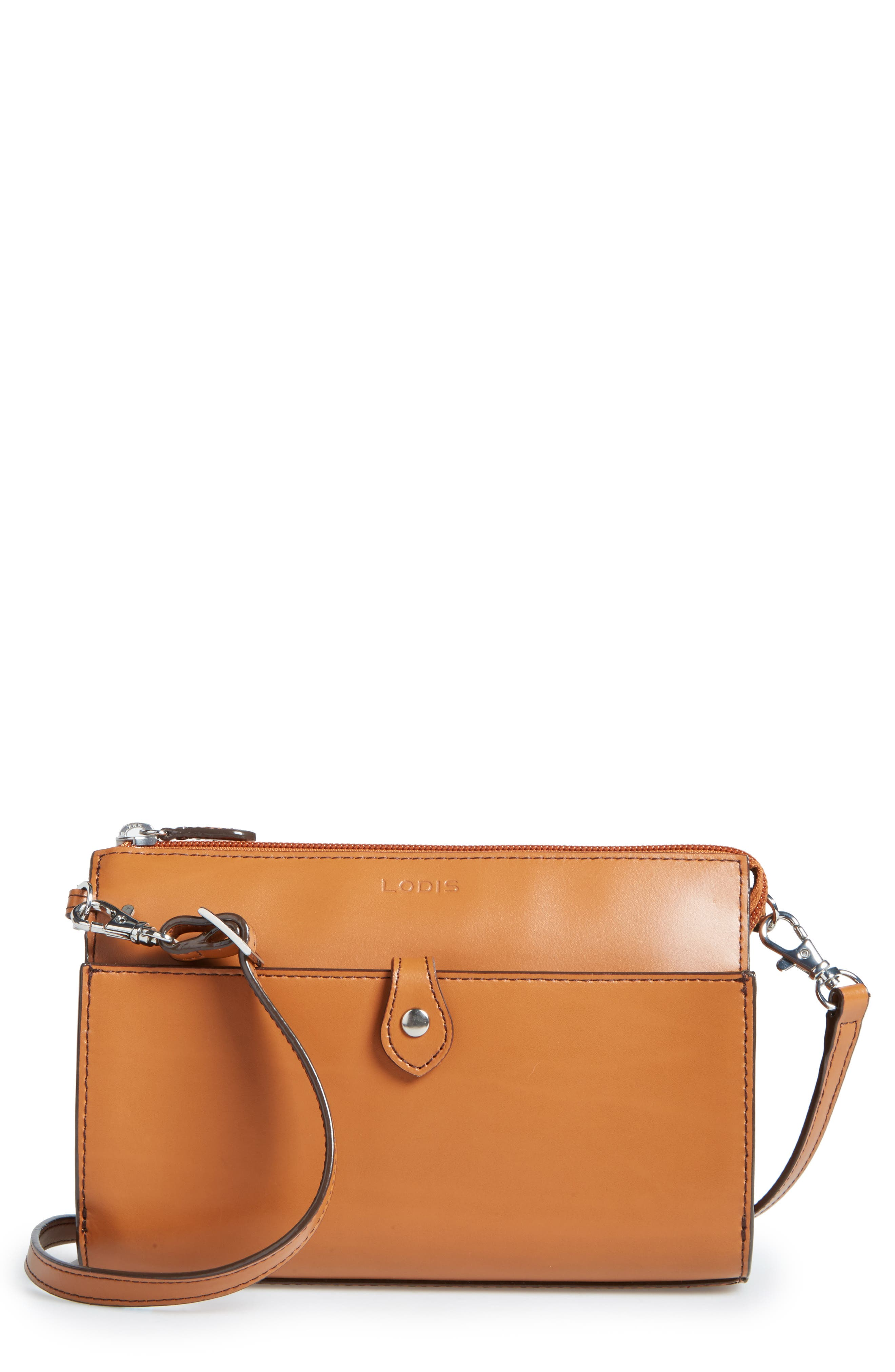 Audrey Under Lock & Key Vicky Convertible Leather Crossbody Bag,                         Main,                         color, TOFFEE