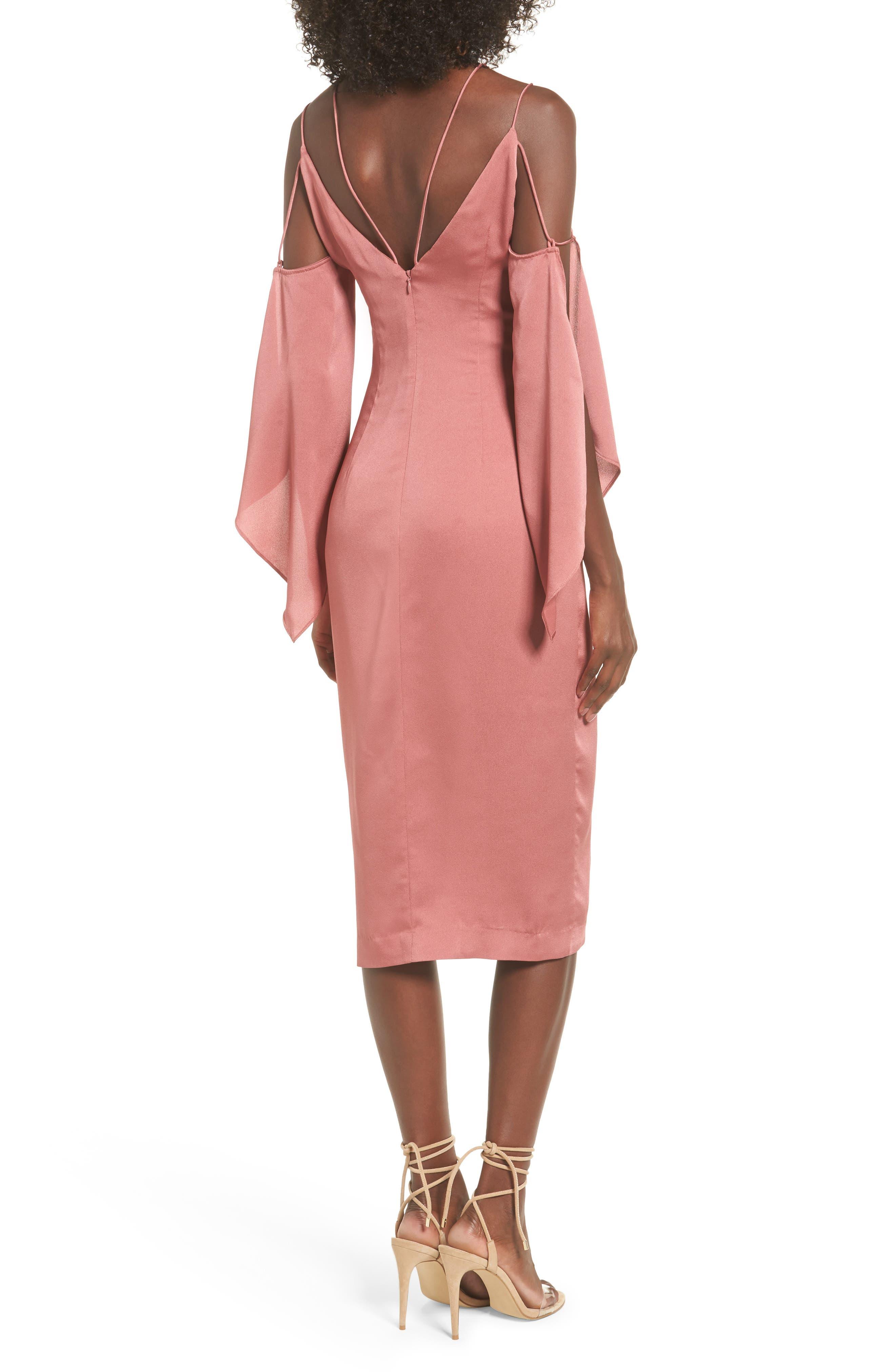 Raindrops Midi Dress,                             Alternate thumbnail 4, color,