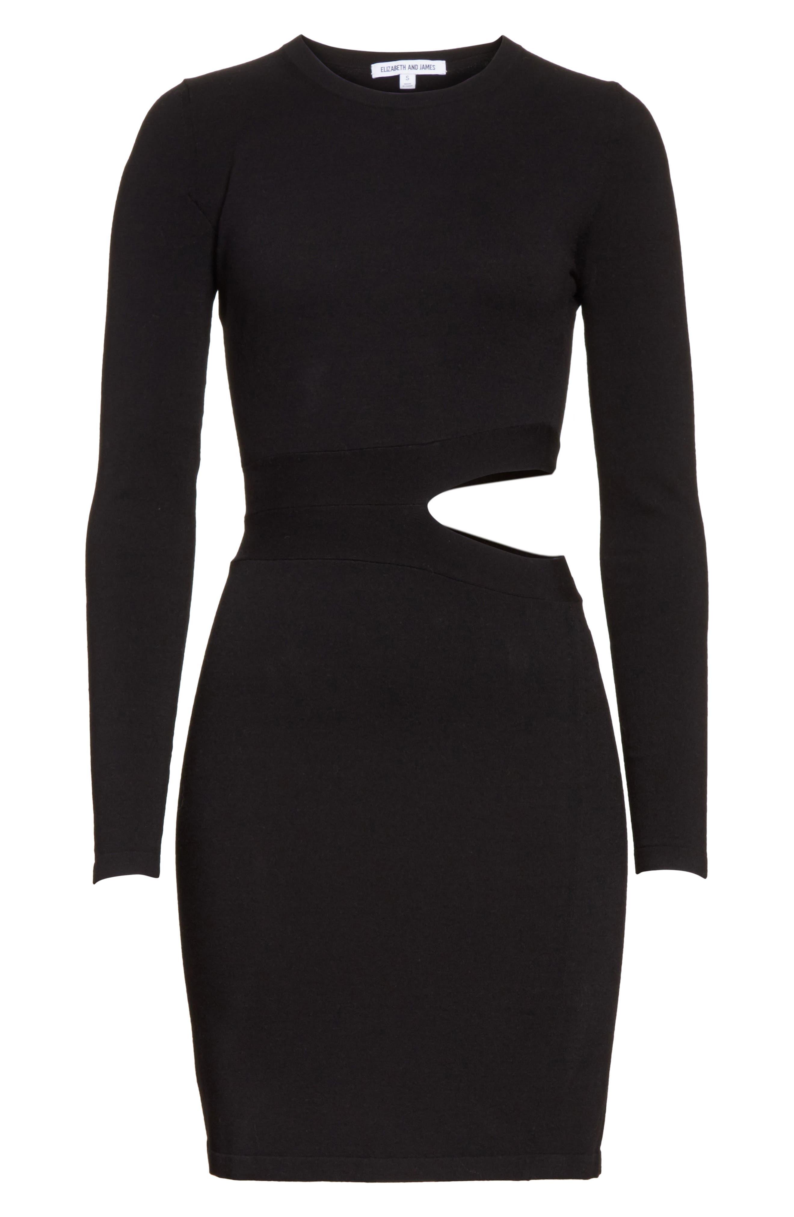 Railey Cutout Dress,                             Alternate thumbnail 6, color,                             001