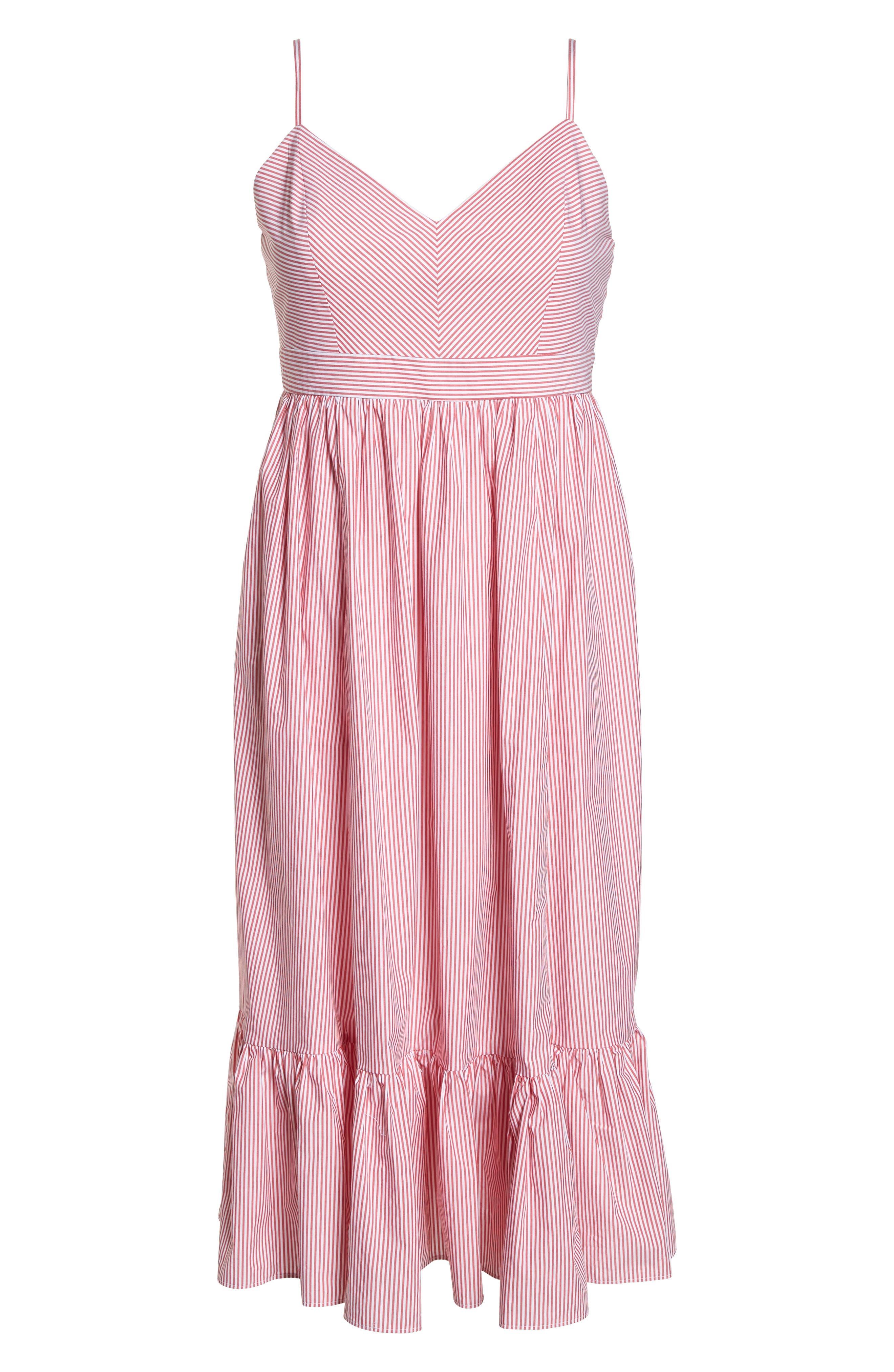 Drapey Spaghetti Strap Dress,                             Alternate thumbnail 7, color,