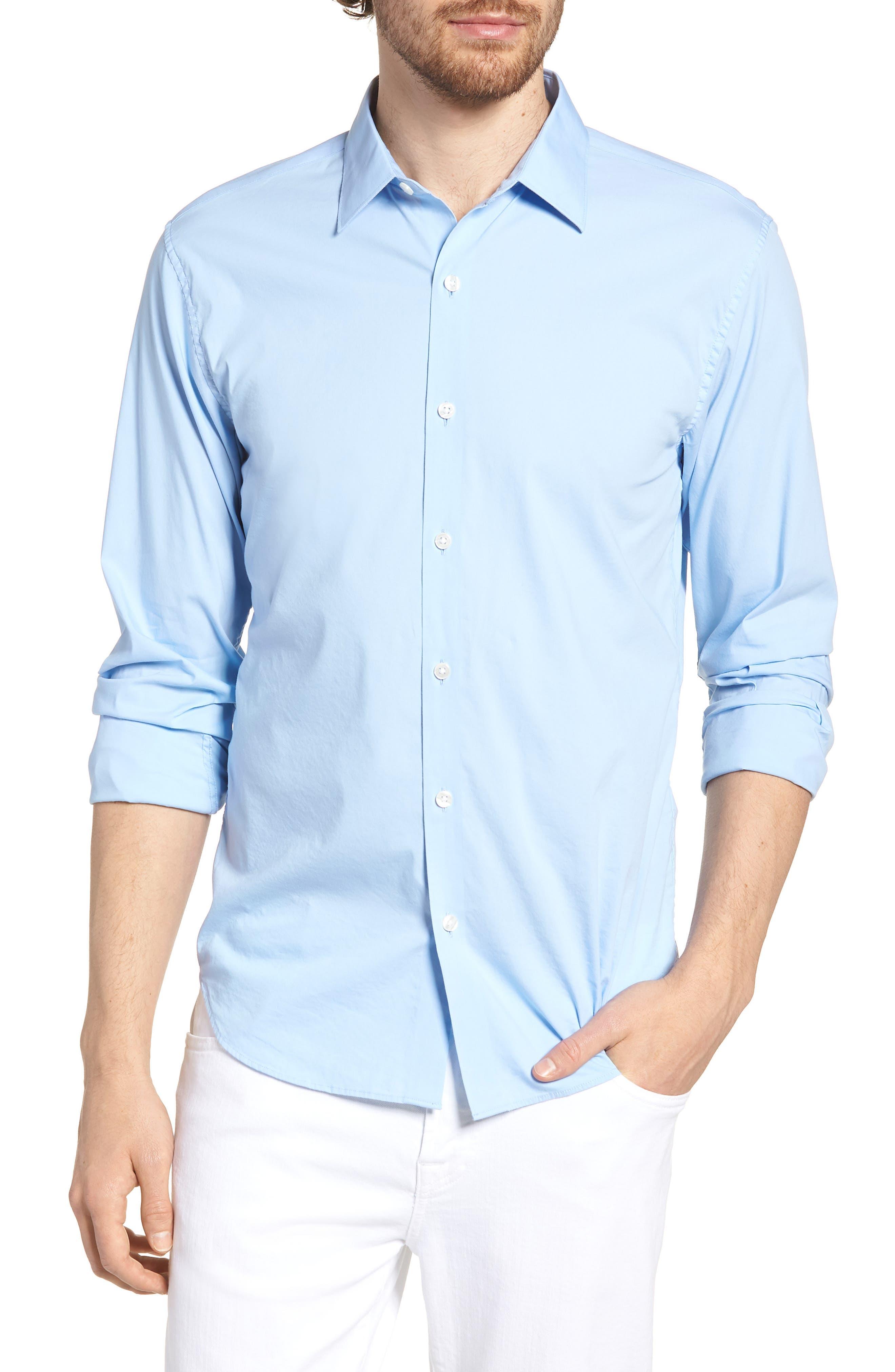 Unbutton Down 2.0 Slim Fit Sport Shirt,                             Main thumbnail 3, color,