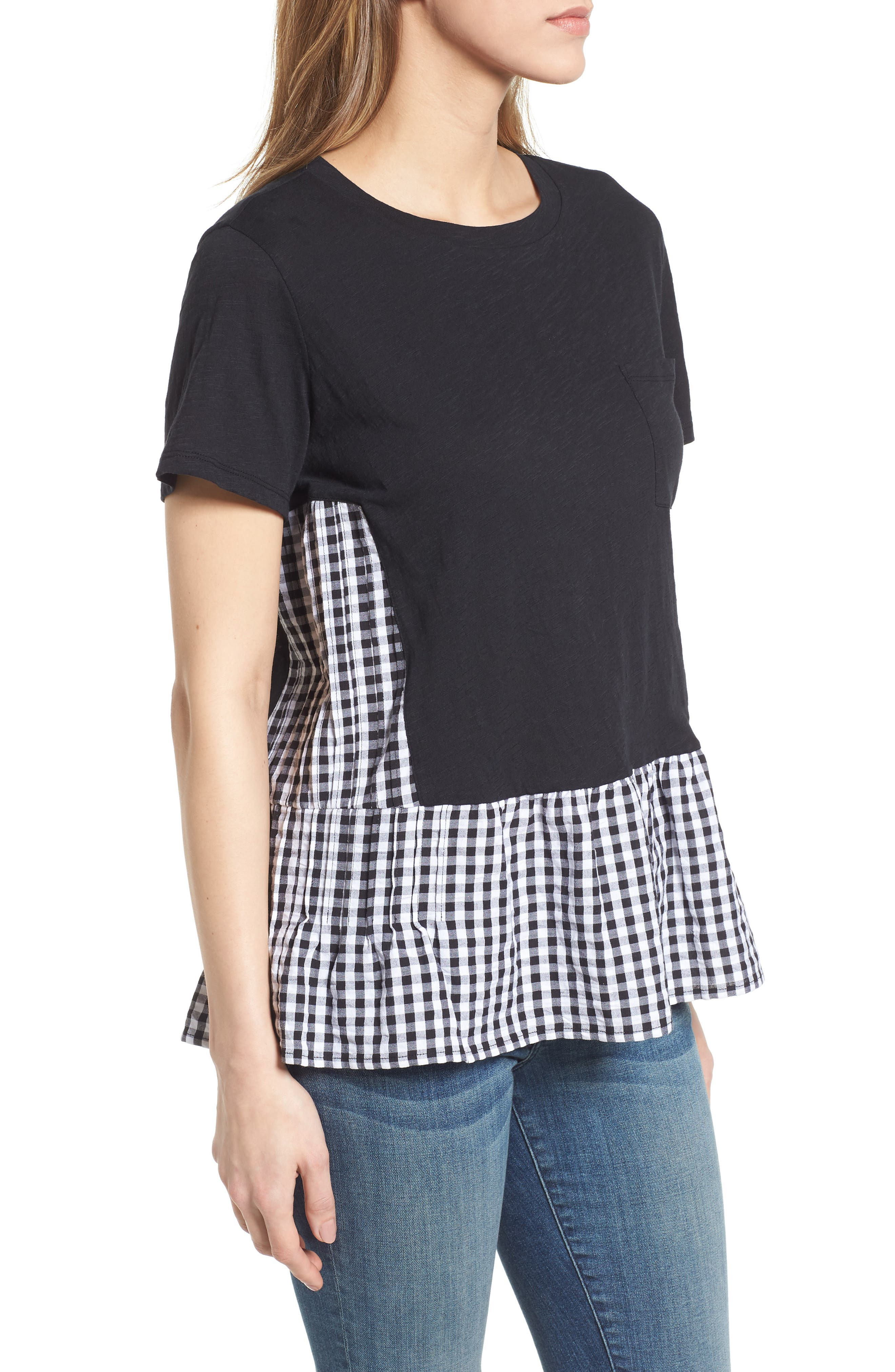Layered Look Tee,                             Alternate thumbnail 5, color,