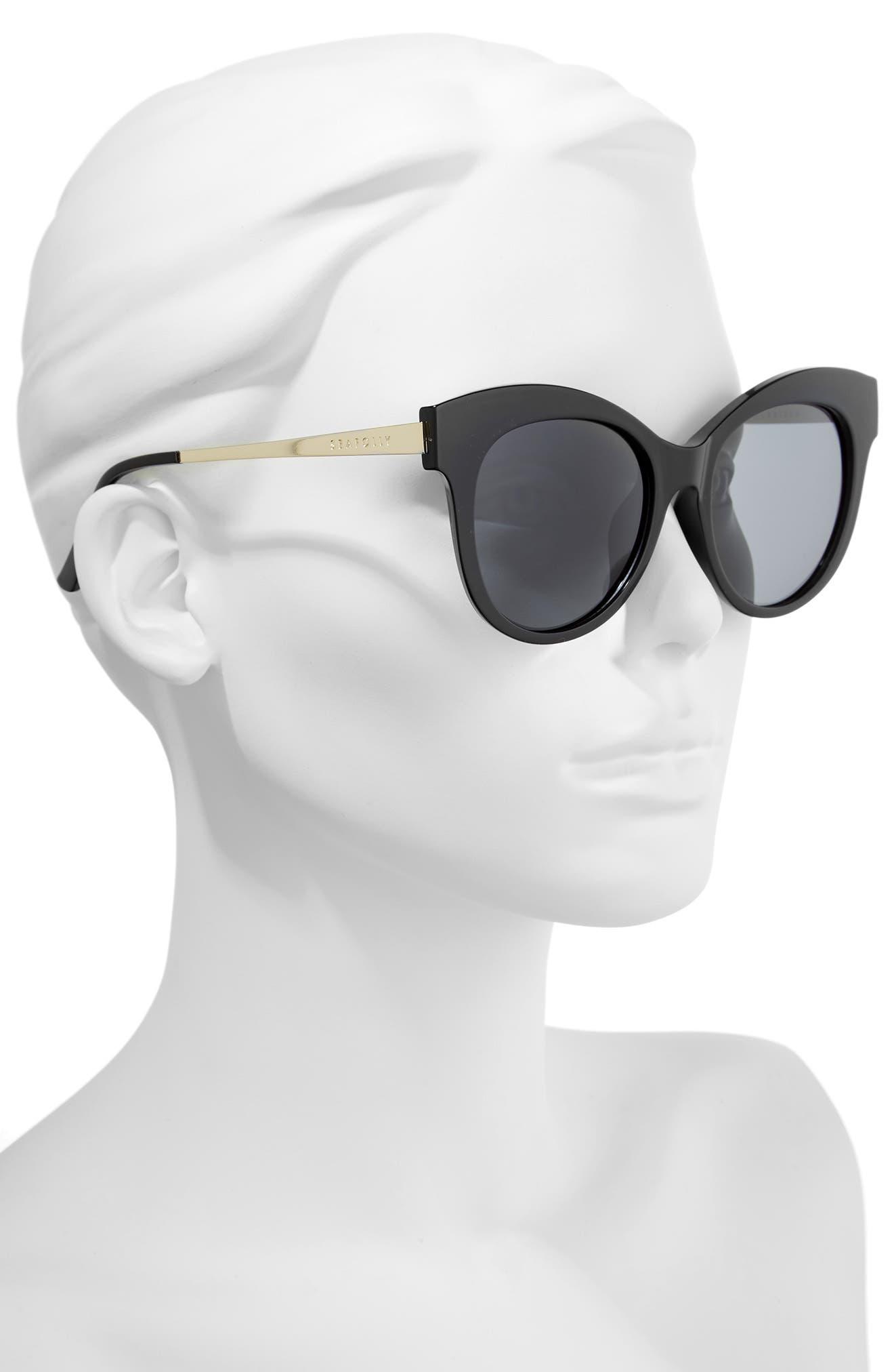 Hayman 53mm Cat Eye Sunglasses,                             Alternate thumbnail 2, color,                             BLACK