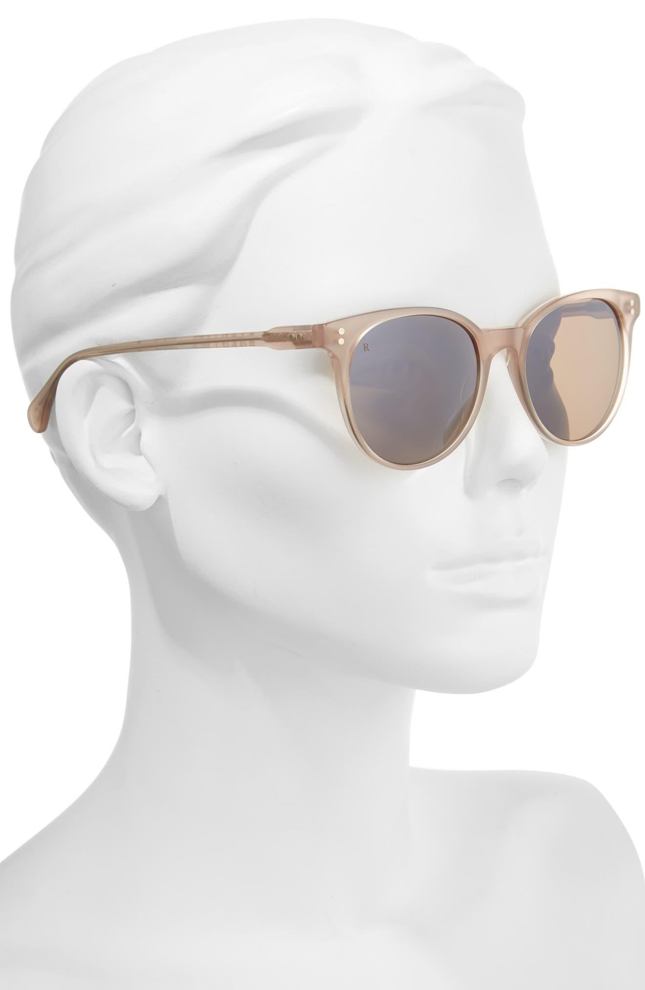 Norie 51mm Cat Eye Mirrored Lens Sunglasses,                             Alternate thumbnail 2, color,                             FLESH