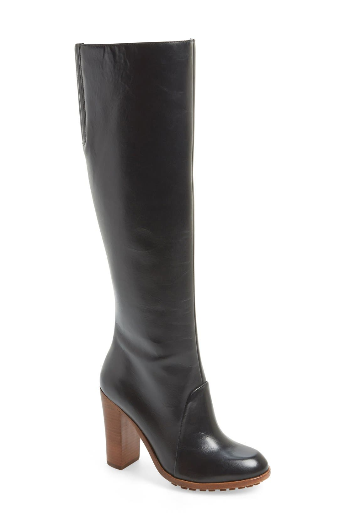 'Evan' Tall Boot,                         Main,                         color, 001