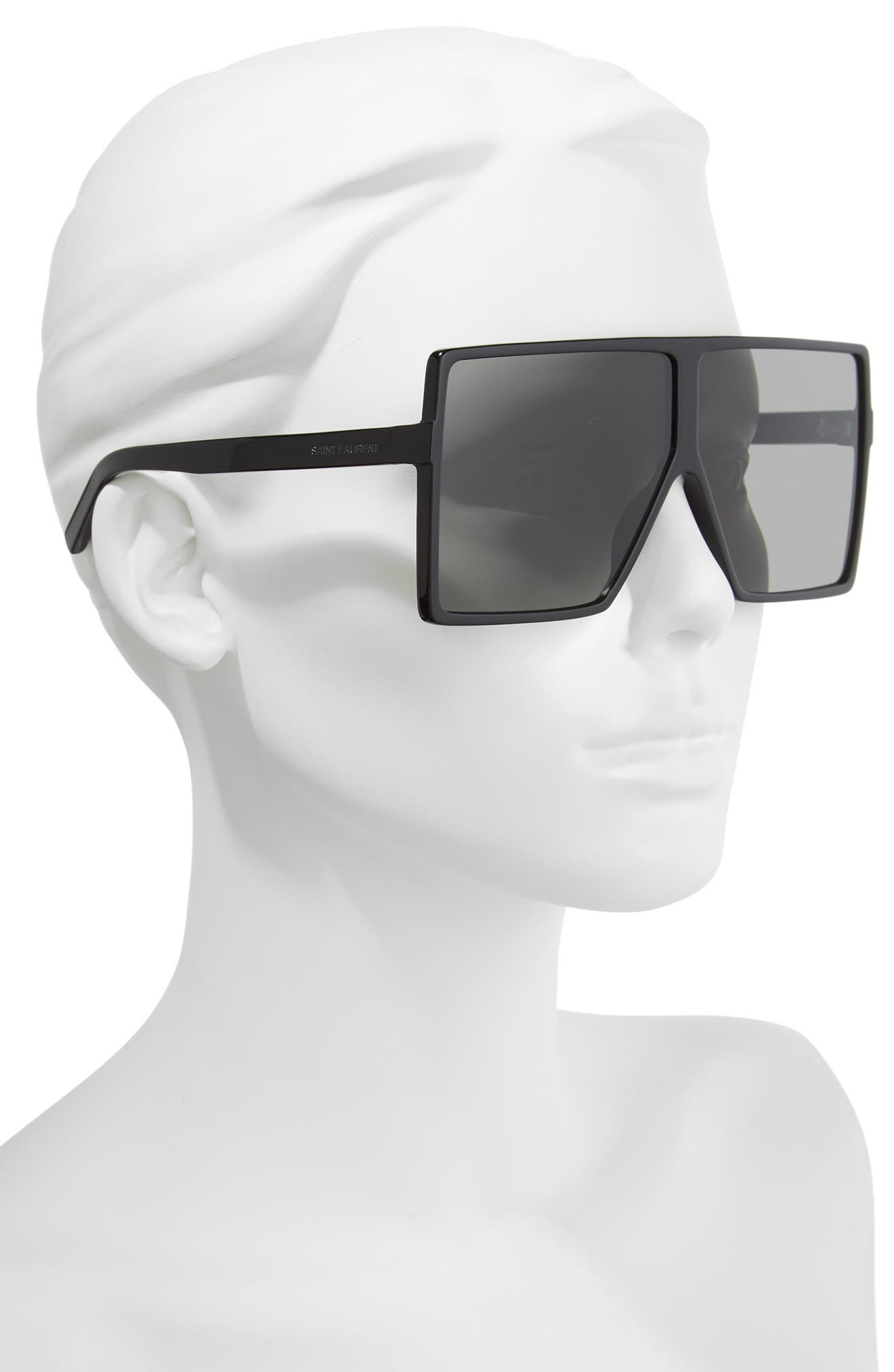 68mm Oversize Square Sunglasses,                             Alternate thumbnail 2, color,                             004