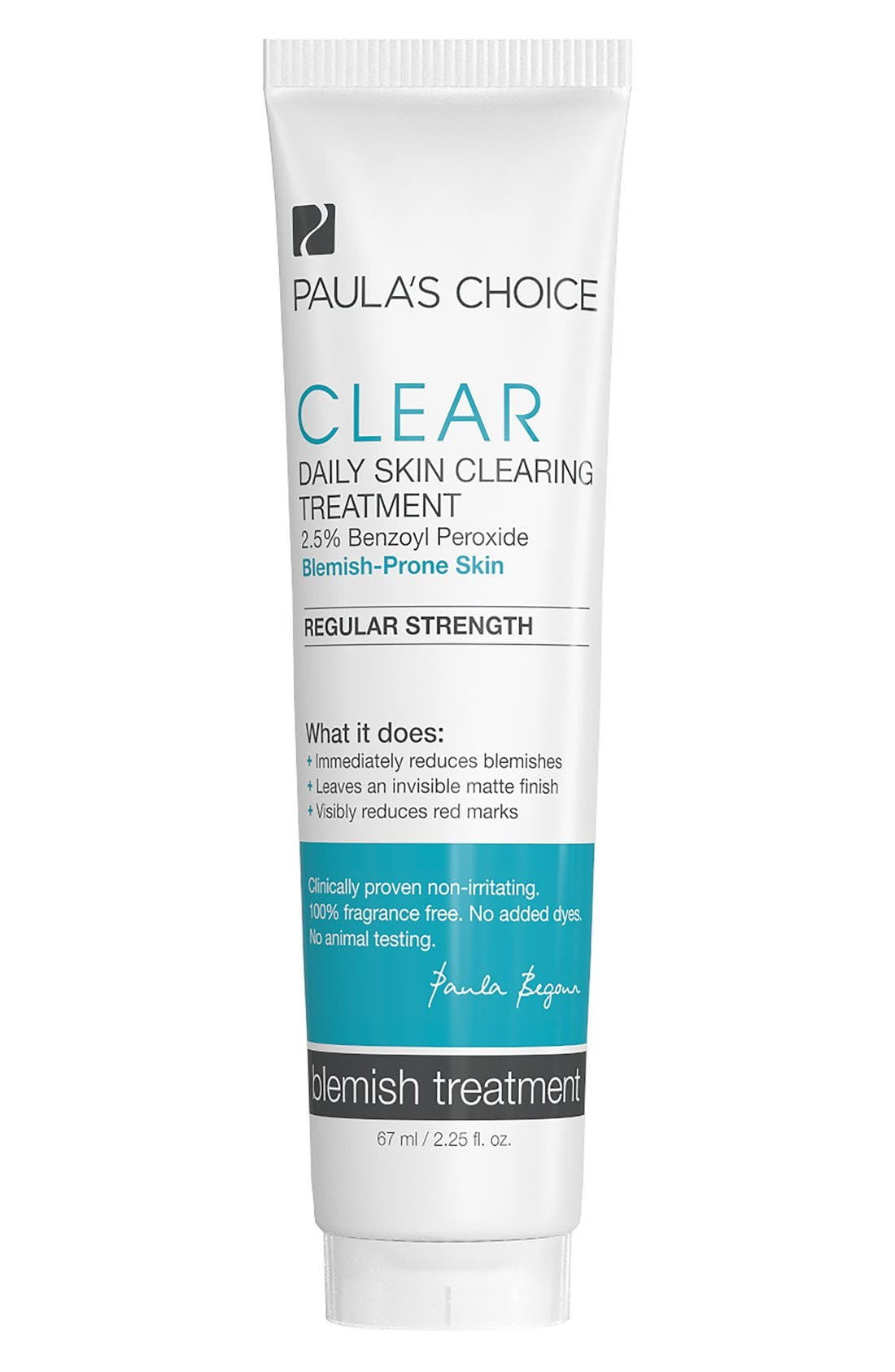 Clear Regular Strength Daily Skin Clearing Treatment,                         Main,                         color, NO COLOR