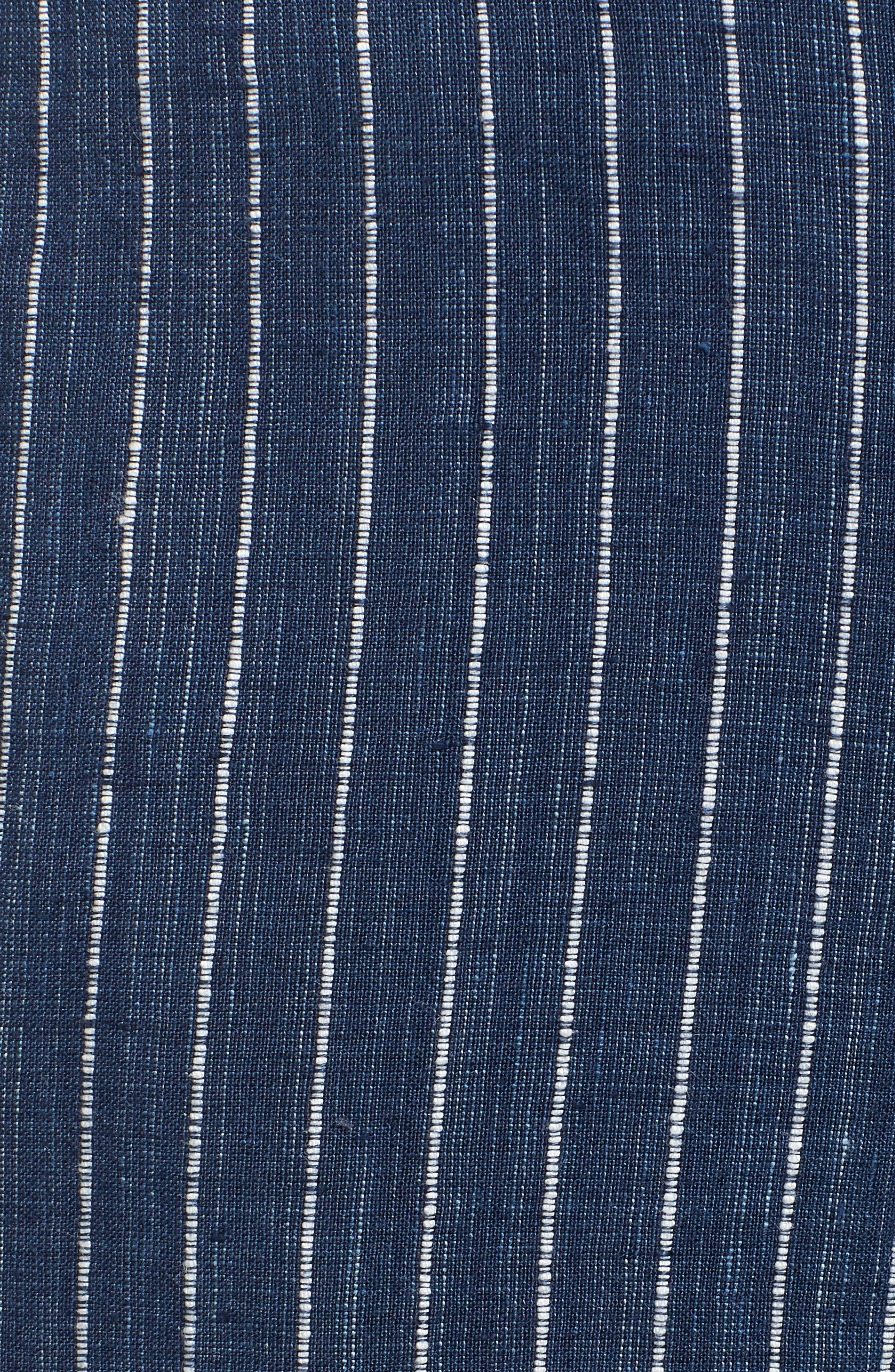 Stripe Linen Crop Pants,                             Alternate thumbnail 6, color,                             480