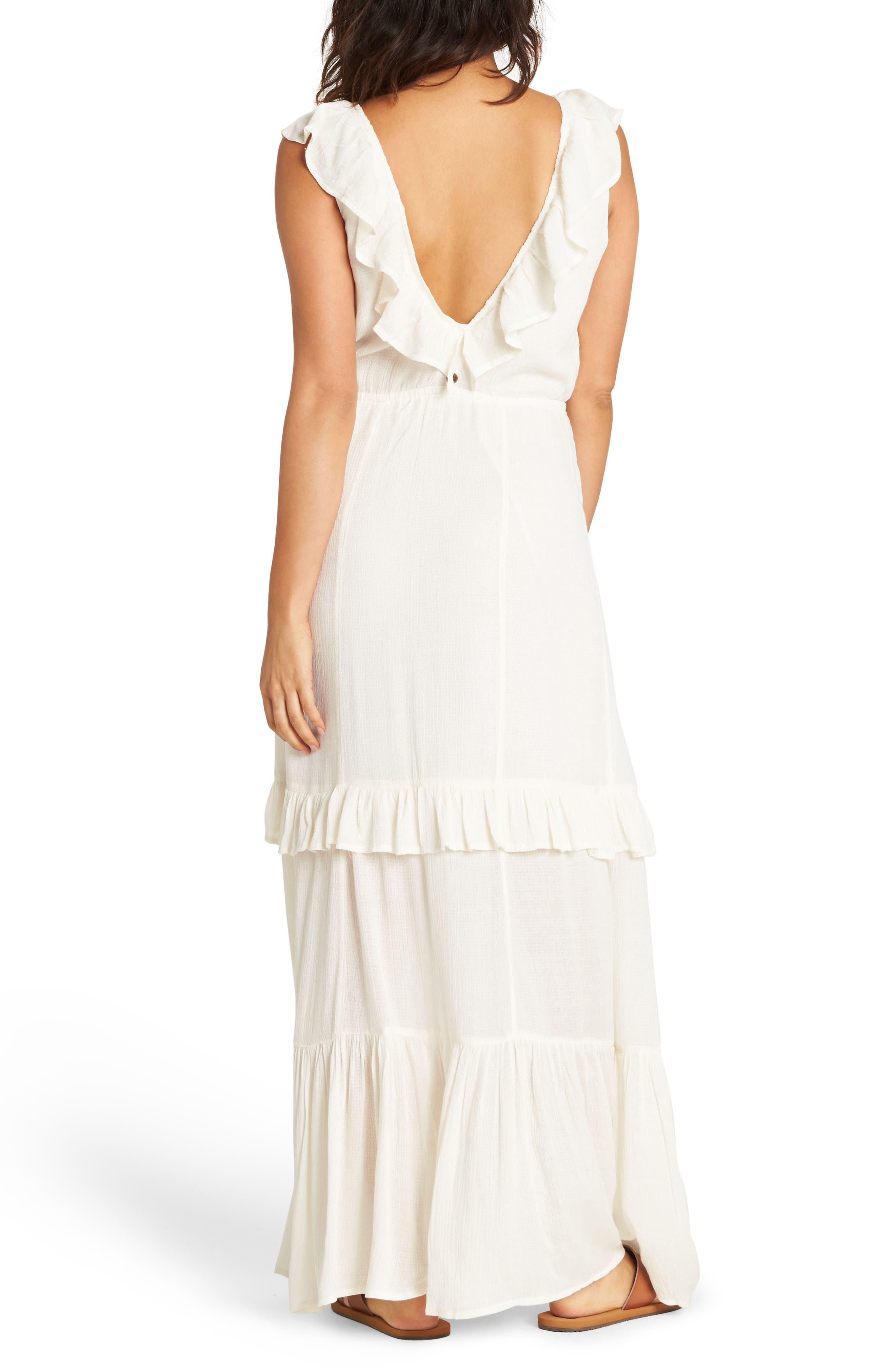 Romance Row Ruffle Tier Maxi Dress,                             Alternate thumbnail 2, color,                             COOL WIP