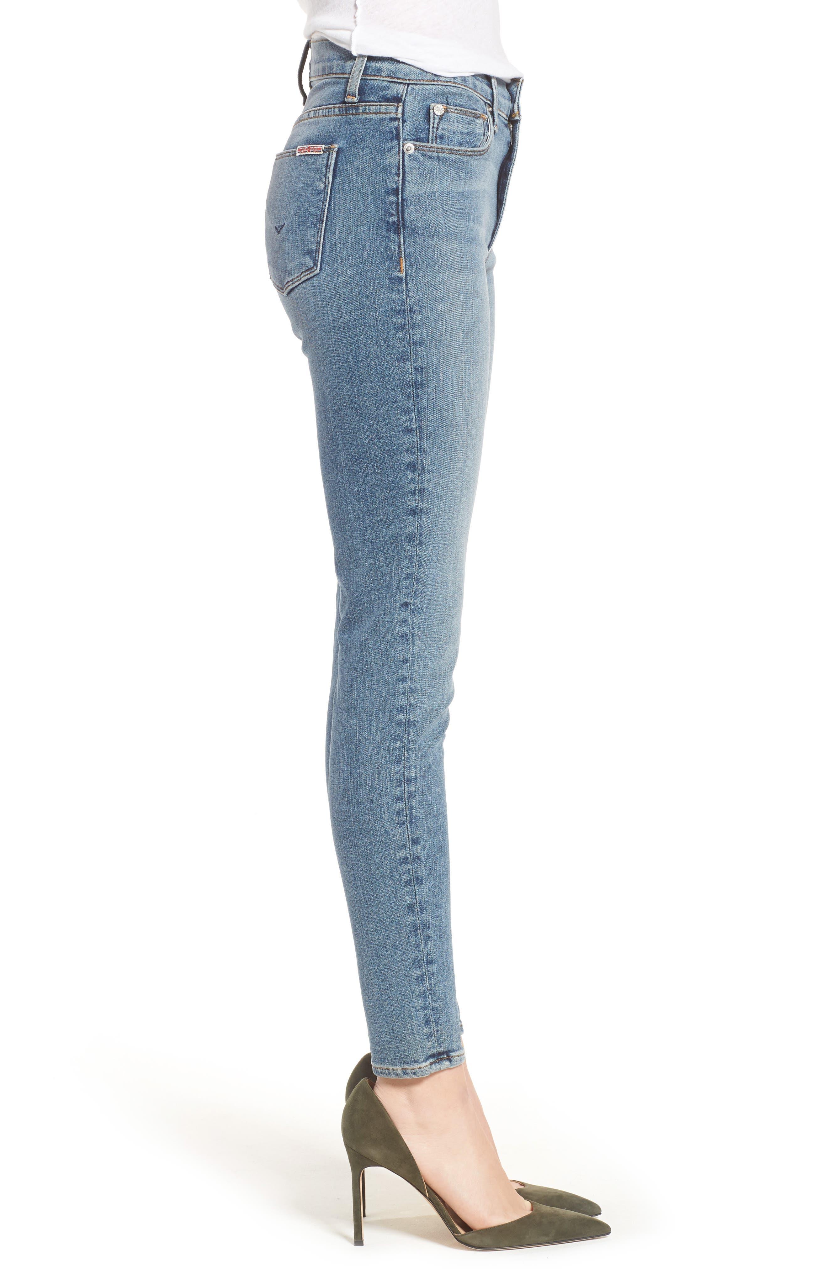 Barbara High Waist Ankle Super Skinny Jeans,                             Alternate thumbnail 6, color,