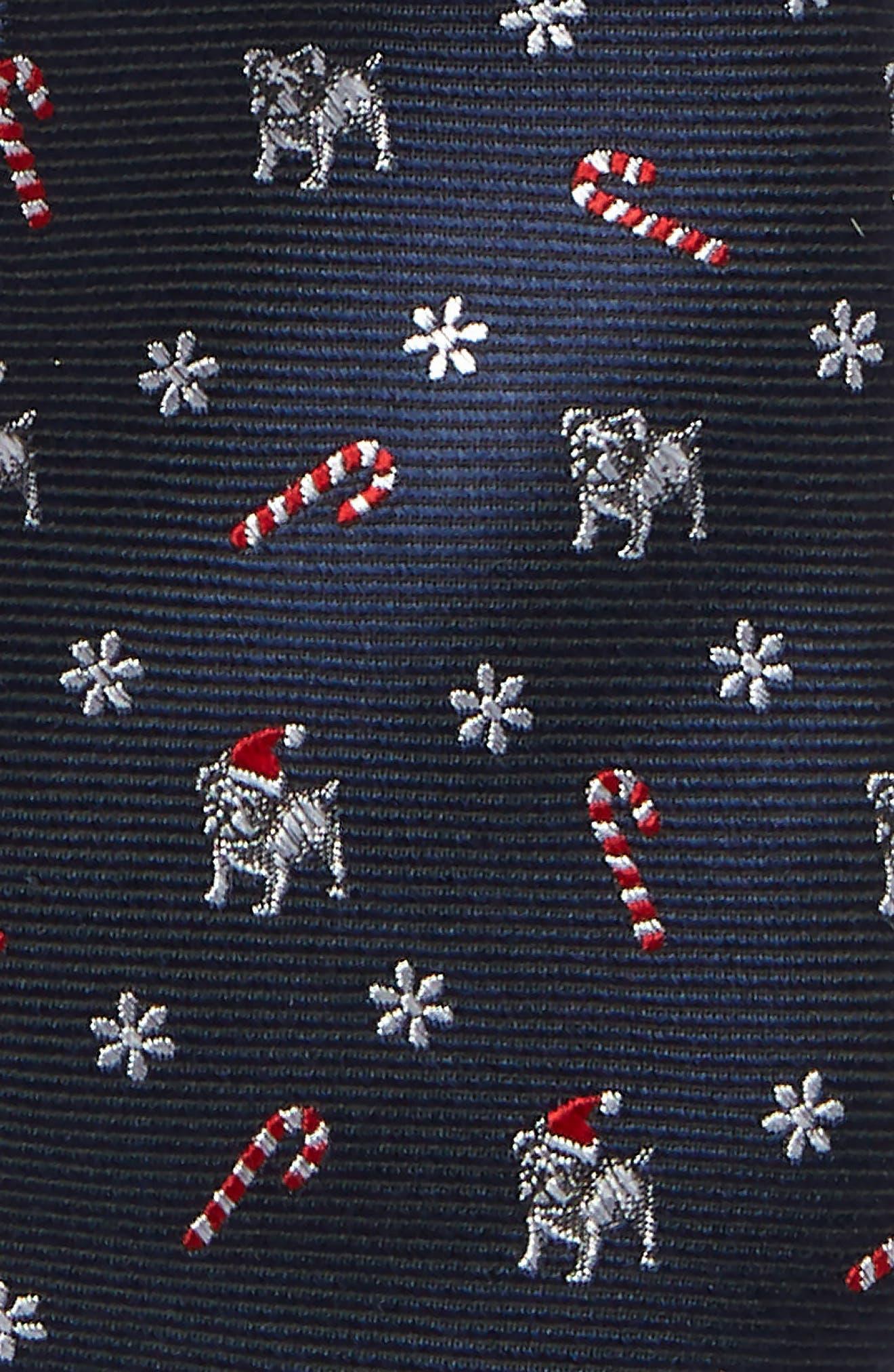 Santa Dog Silk Tie,                             Alternate thumbnail 2, color,                             NAVY
