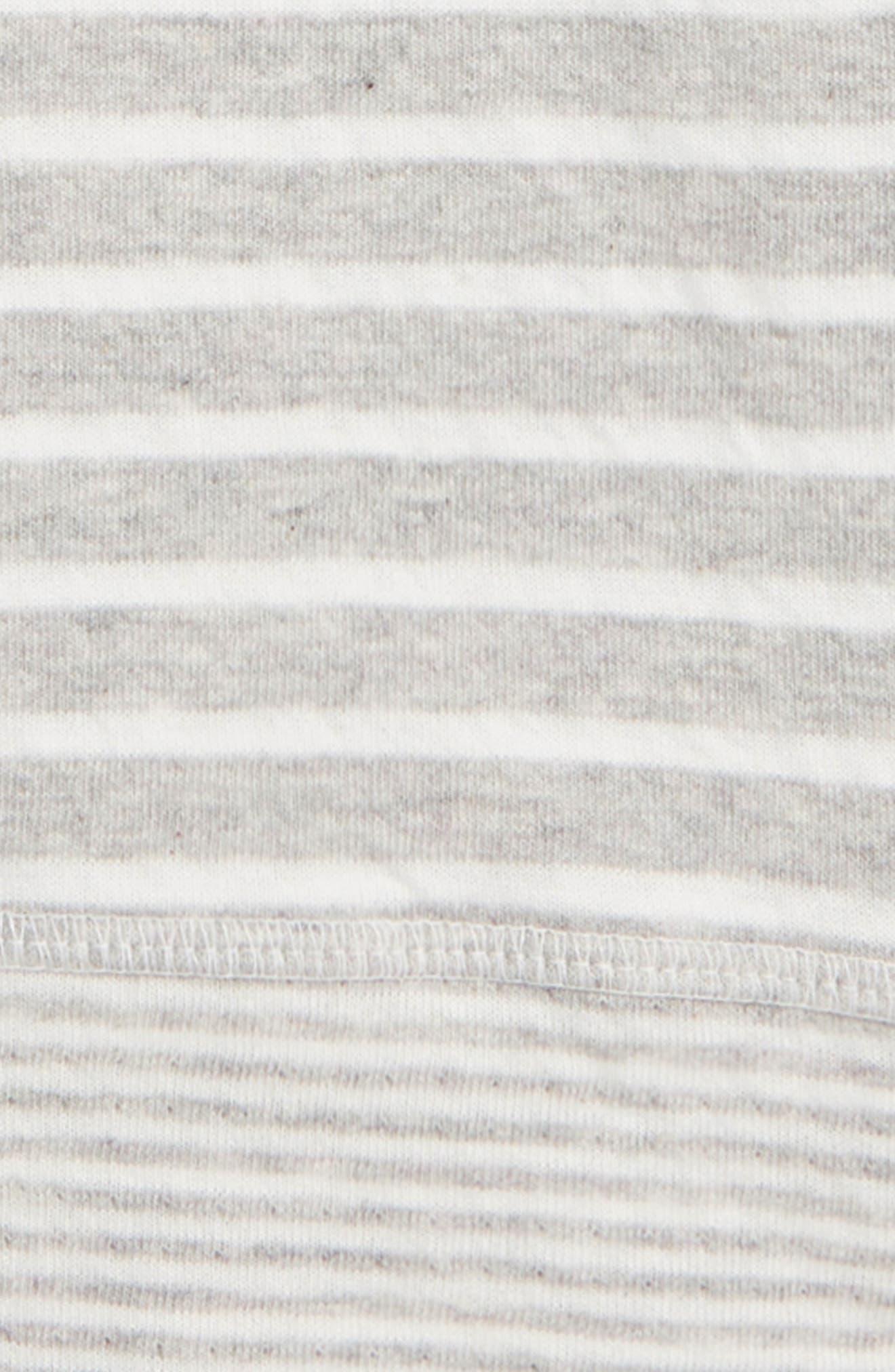 Double Layer Reversible T-Shirt,                             Alternate thumbnail 3, color,                             GREY MARL/ ECRU