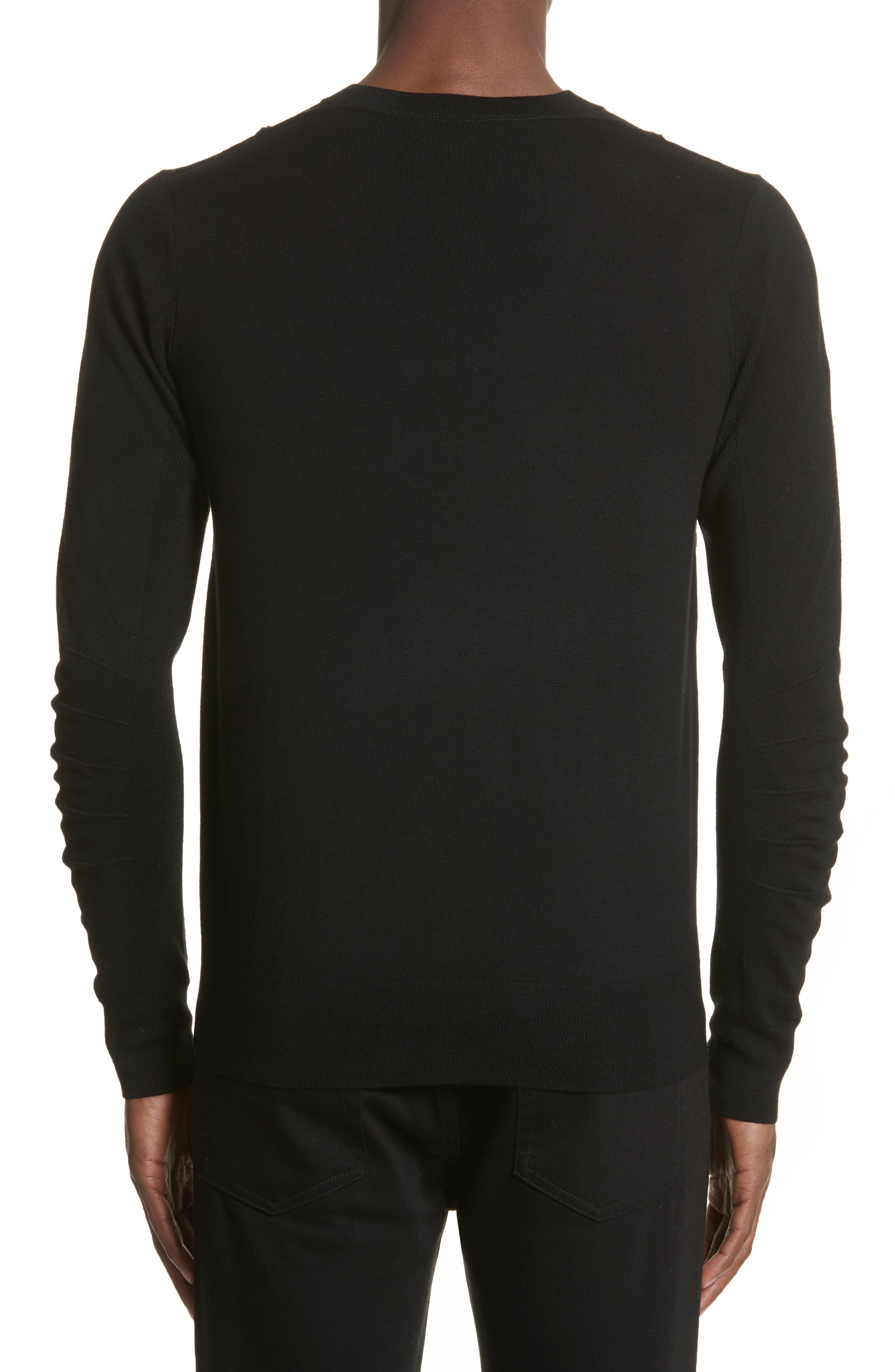 Carter Merino Wool Crewneck Sweater,                             Alternate thumbnail 2, color,                             BLACK