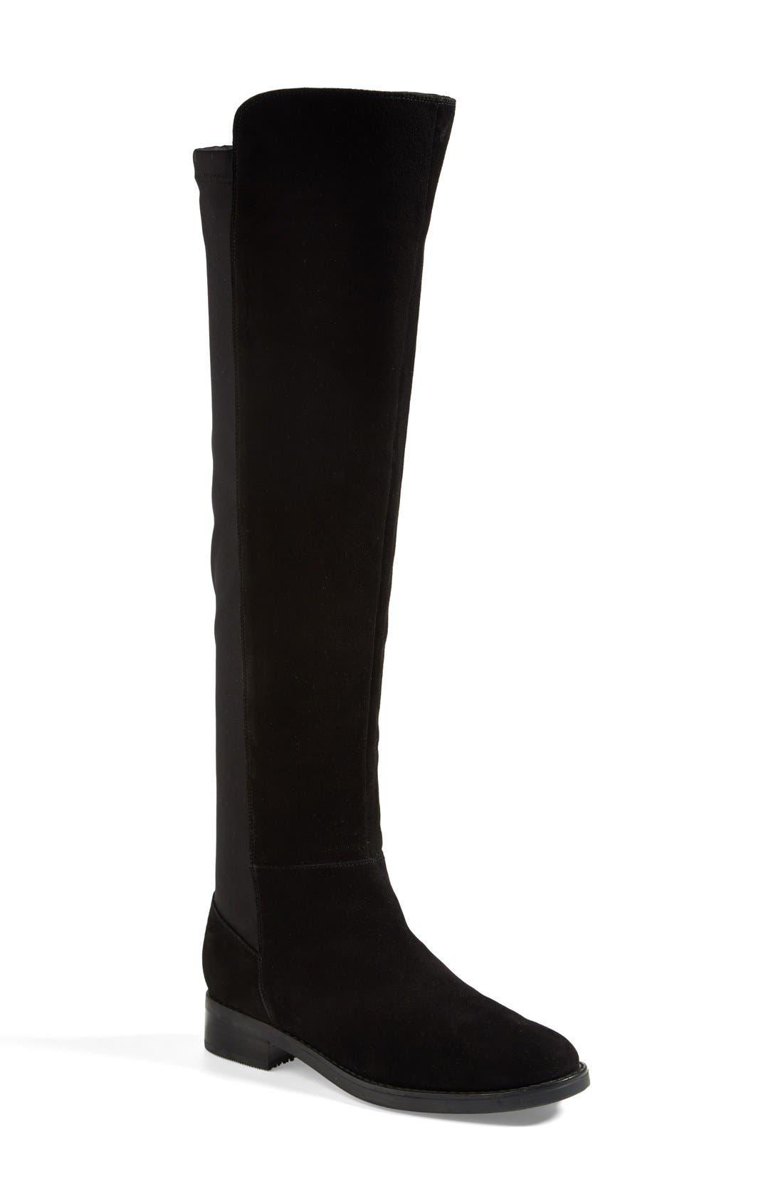 'Eden' Over the Knee Waterproof Boot,                         Main,                         color, 001