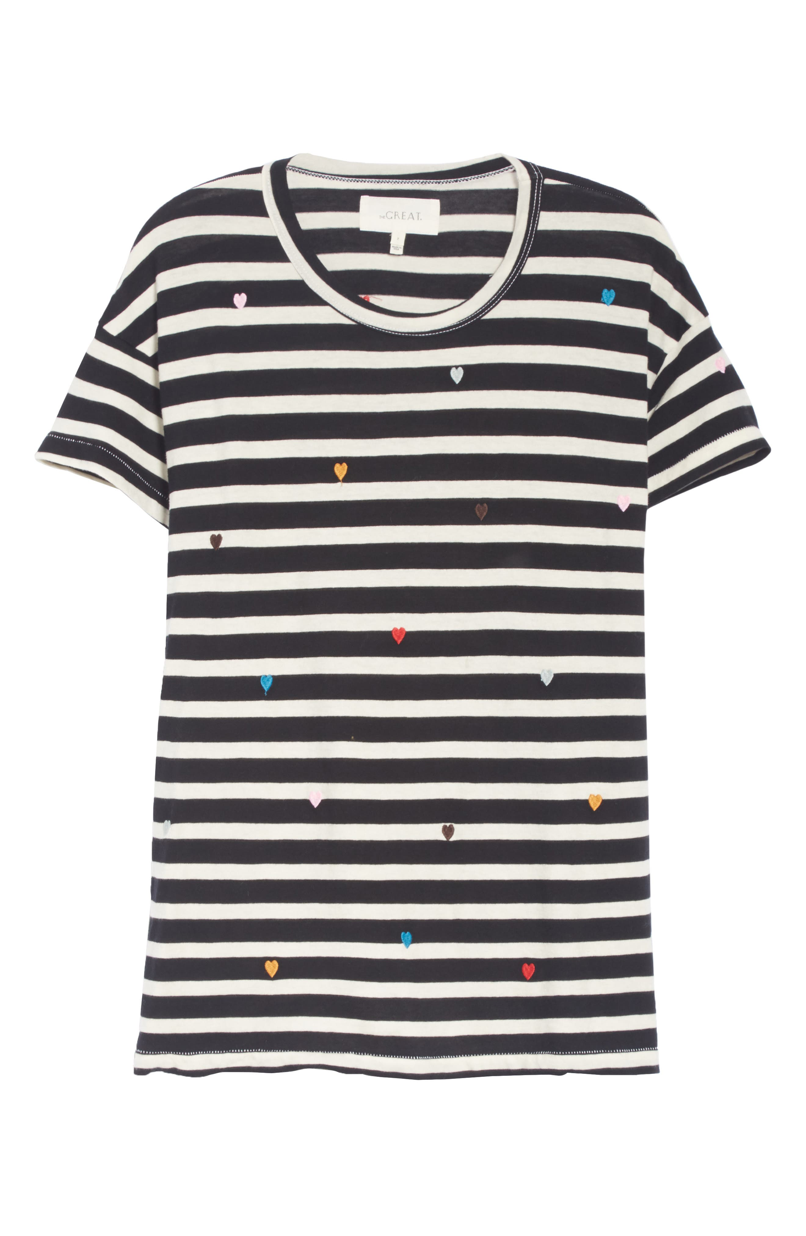 The Boxy Crew Embroidered Dot Tee,                             Alternate thumbnail 6, color,                             004