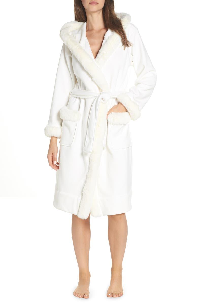 05e9e65cf0 Ugg Duffield Ii Deluxe Faux Fur Trim Robe In Cream