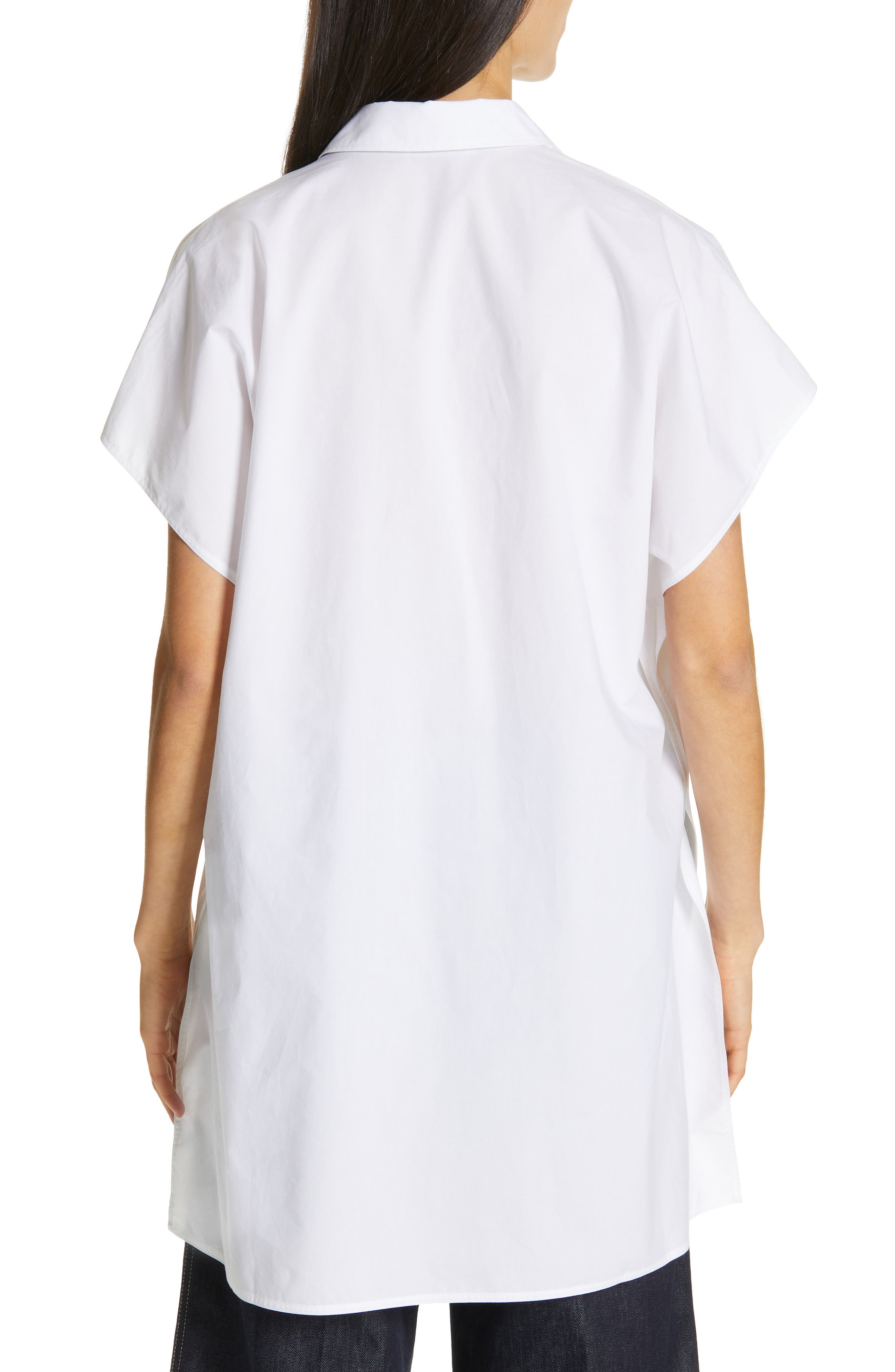 Oversize Dolman Sleeve Blouse,                             Alternate thumbnail 2, color,                             OPTICAL WHITE